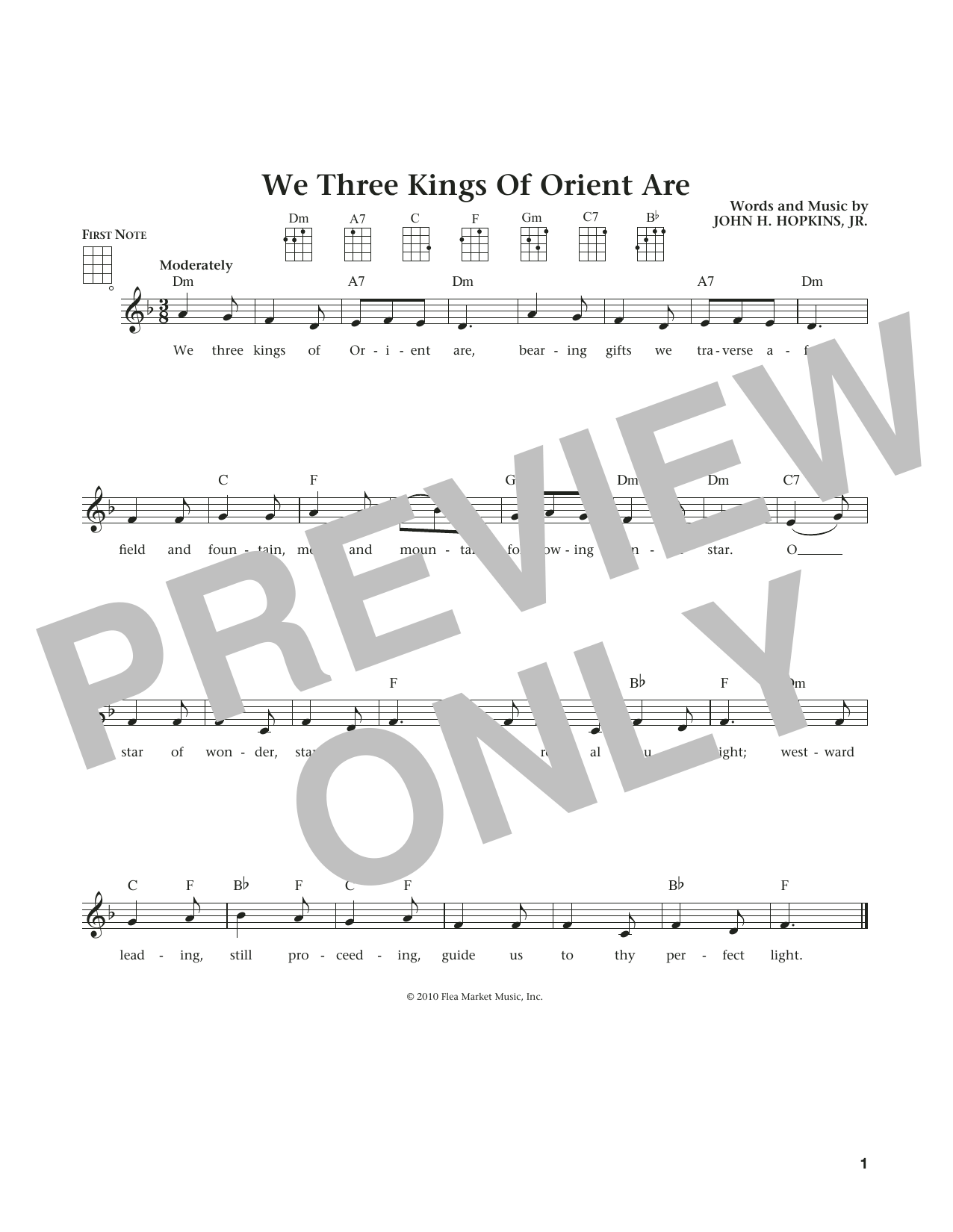 We Three Kings Of Orient Are (from The Daily Ukulele) (arr. Liz and Jim Beloff) (Ukulele)