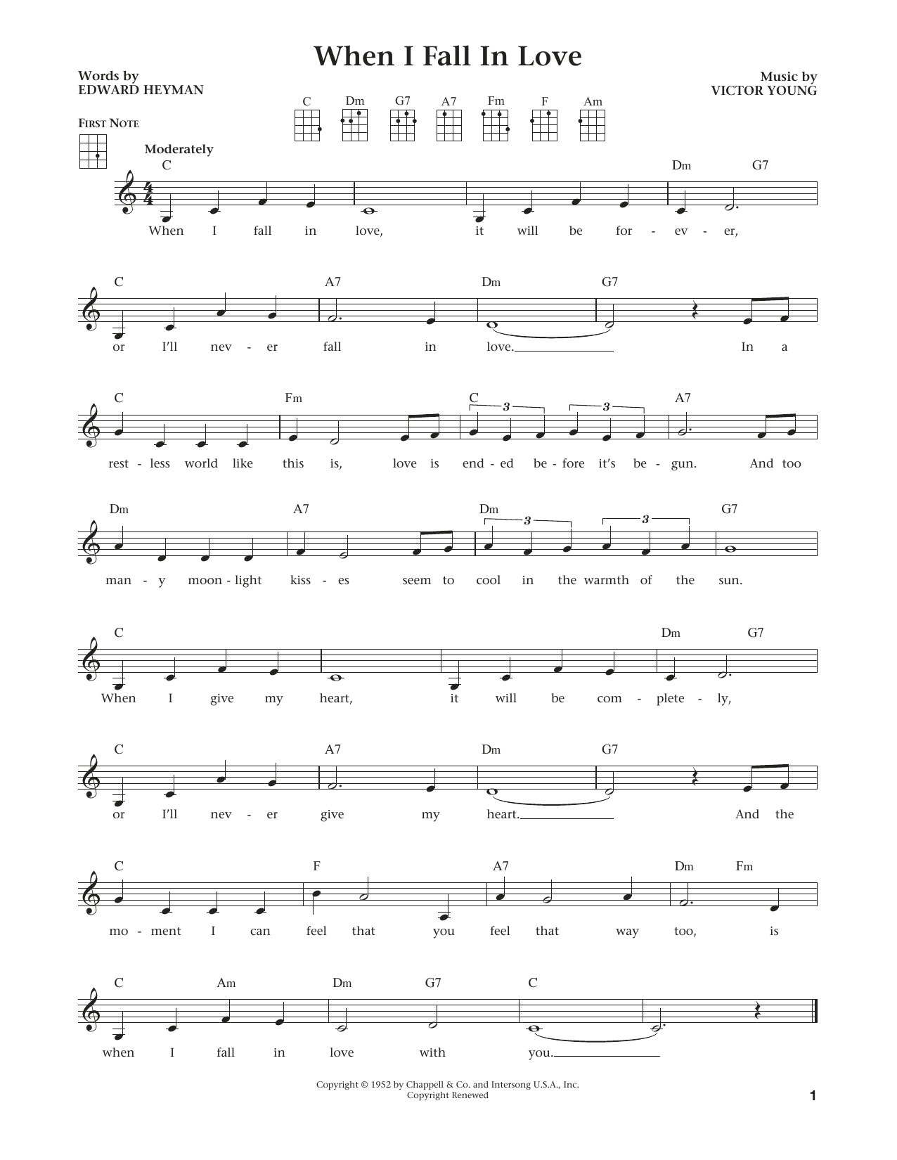 When I Fall In Love (from The Daily Ukulele) (arr. Liz and Jim Beloff) (Ukulele)