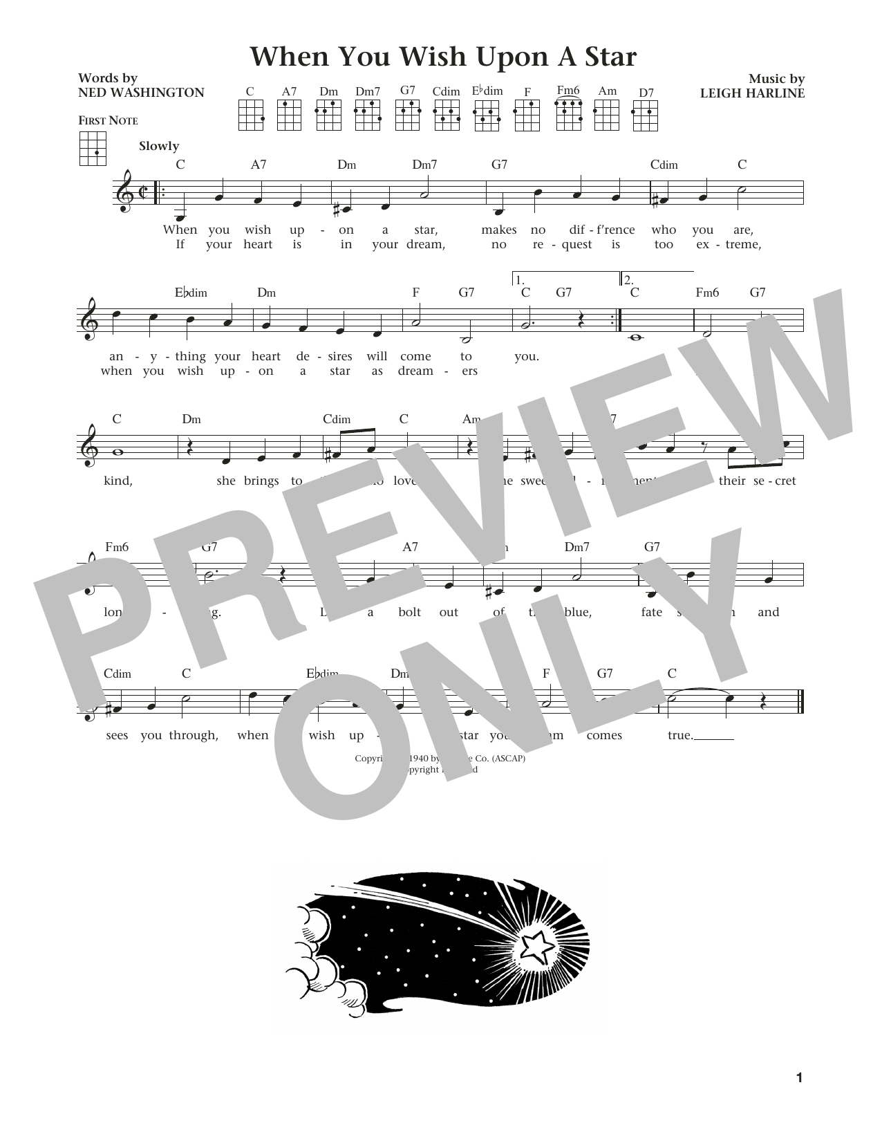 When You Wish Upon A Star (from The Daily Ukulele) (arr. Liz and Jim Beloff) (Ukulele)
