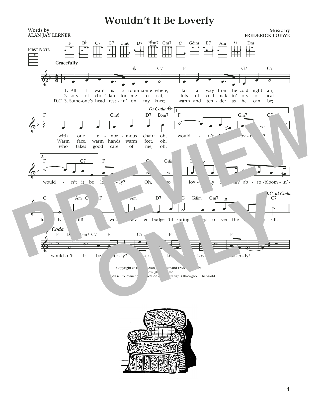 Wouldn't It Be Loverly (from The Daily Ukulele) (arr. Liz and Jim Beloff) (Ukulele)
