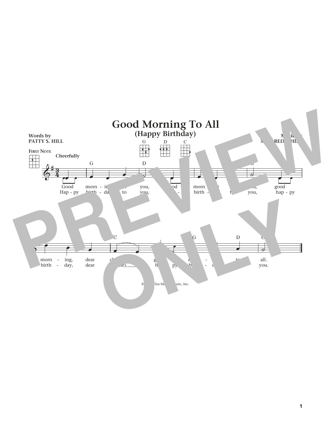 Good Morning To All (from The Daily Ukulele) (arr. Liz and Jim Beloff) (Ukulele)