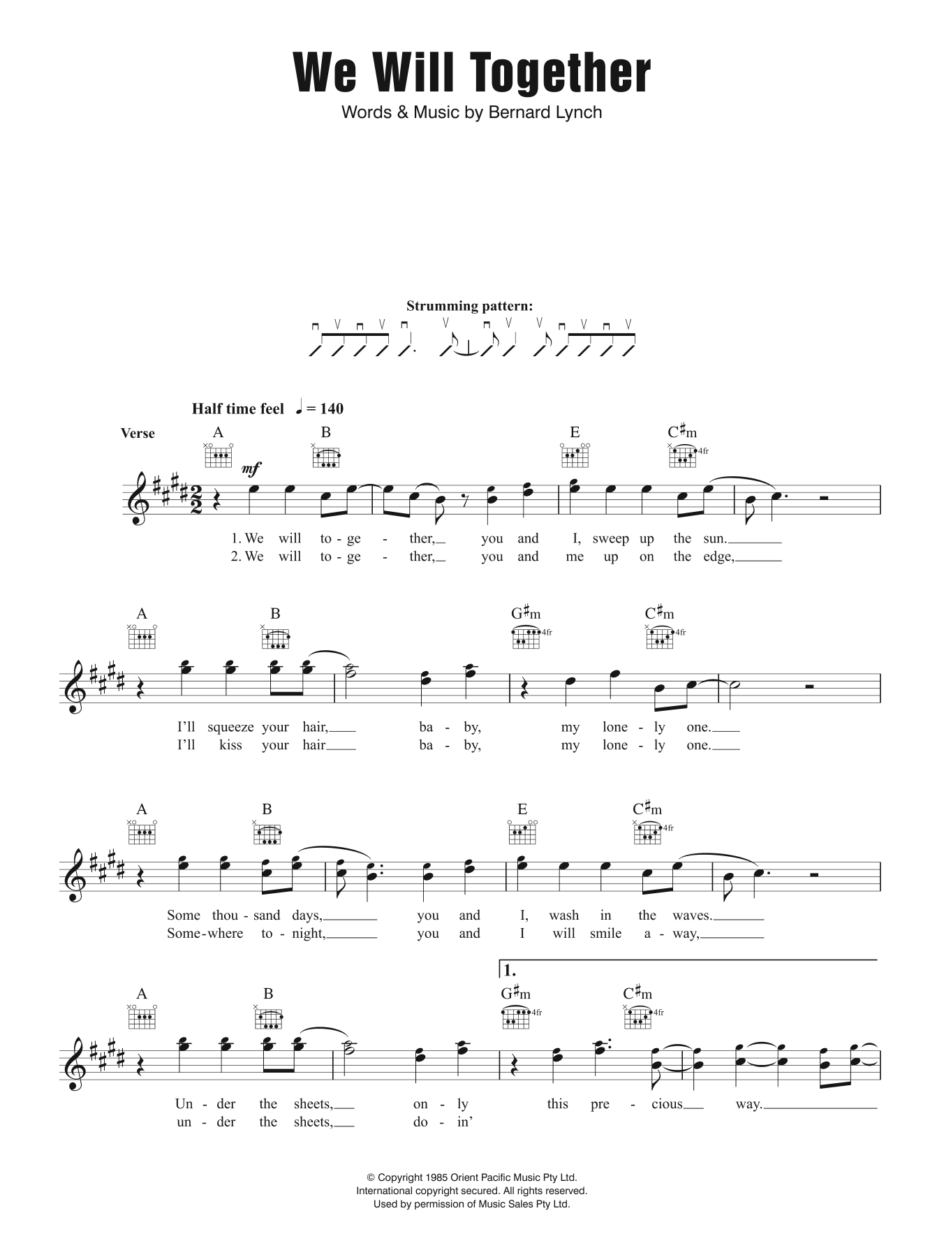 We Will Together Sheet Music