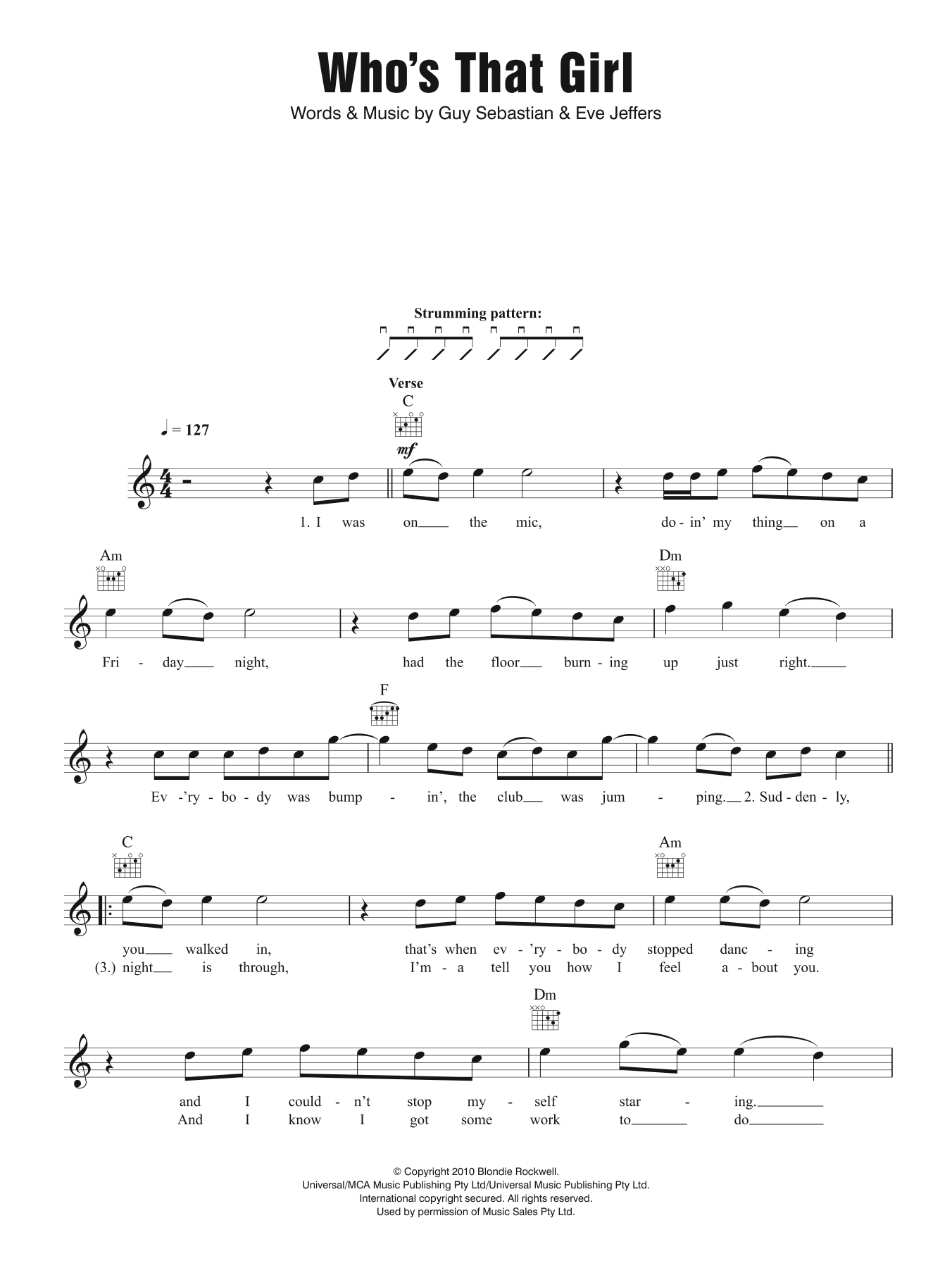 Who's That Girl (feat. Eve) Sheet Music