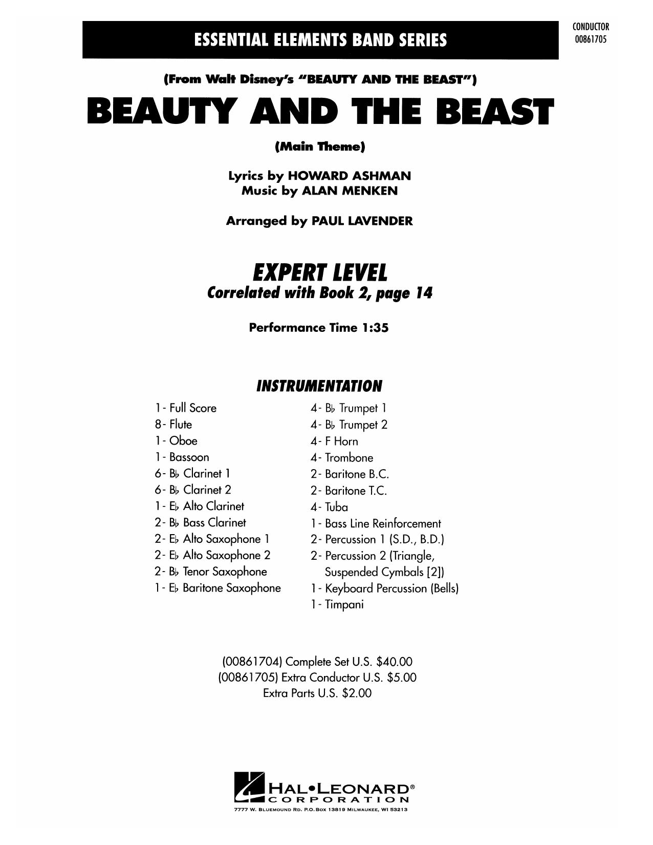 Beauty and the Beast - Full Score Sheet Music