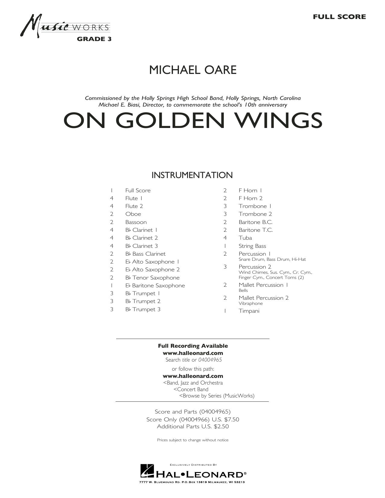 On Golden Wings - Conductor Score (Full Score) Sheet Music