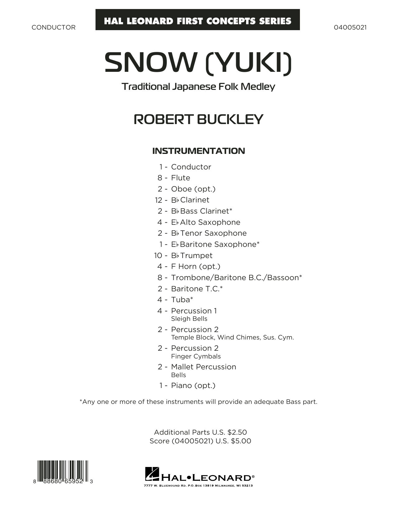 Snow (Yuki) - Conductor Score (Full Score) Sheet Music