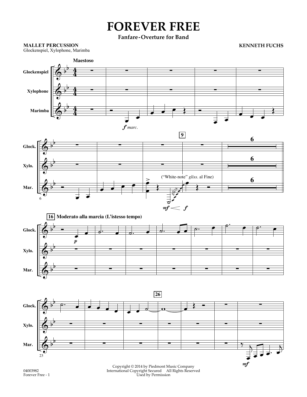 Forever Free - Mallet Percussion Sheet Music