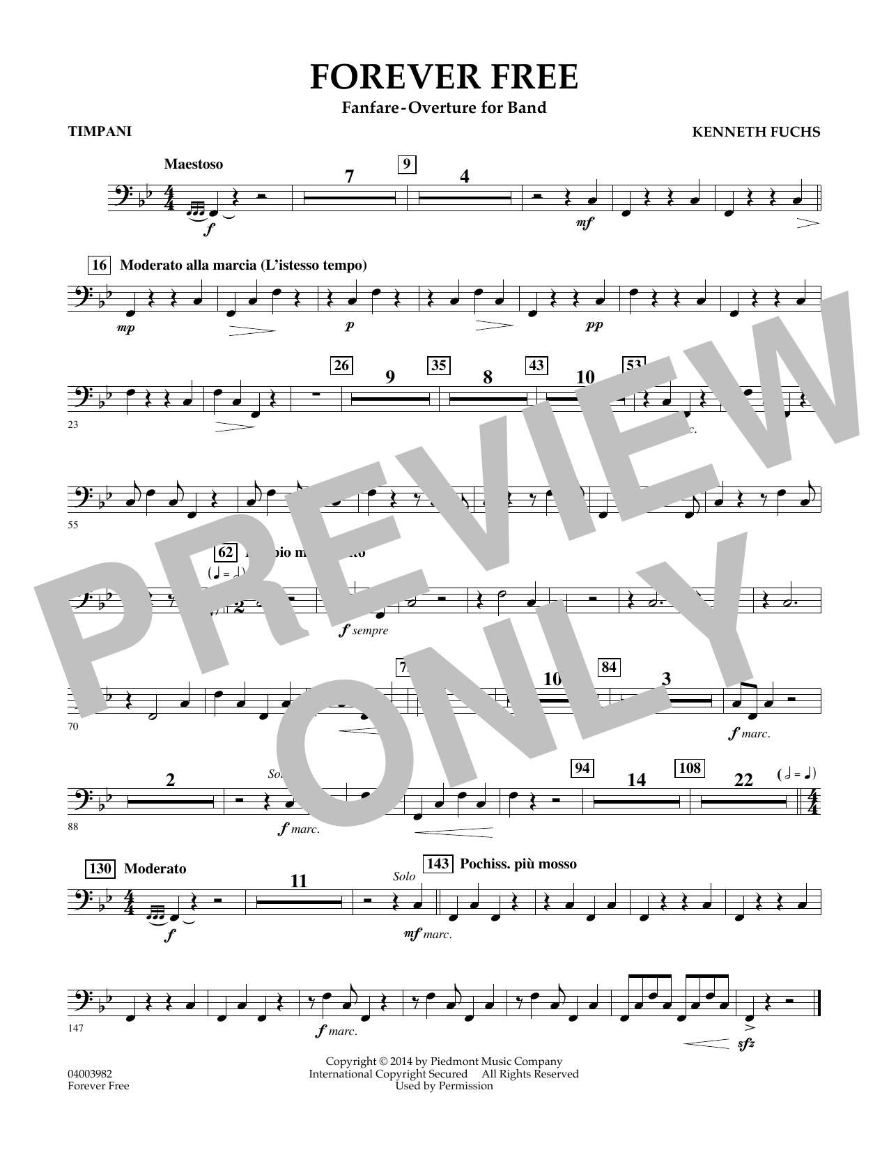 Forever Free - Timpani Sheet Music