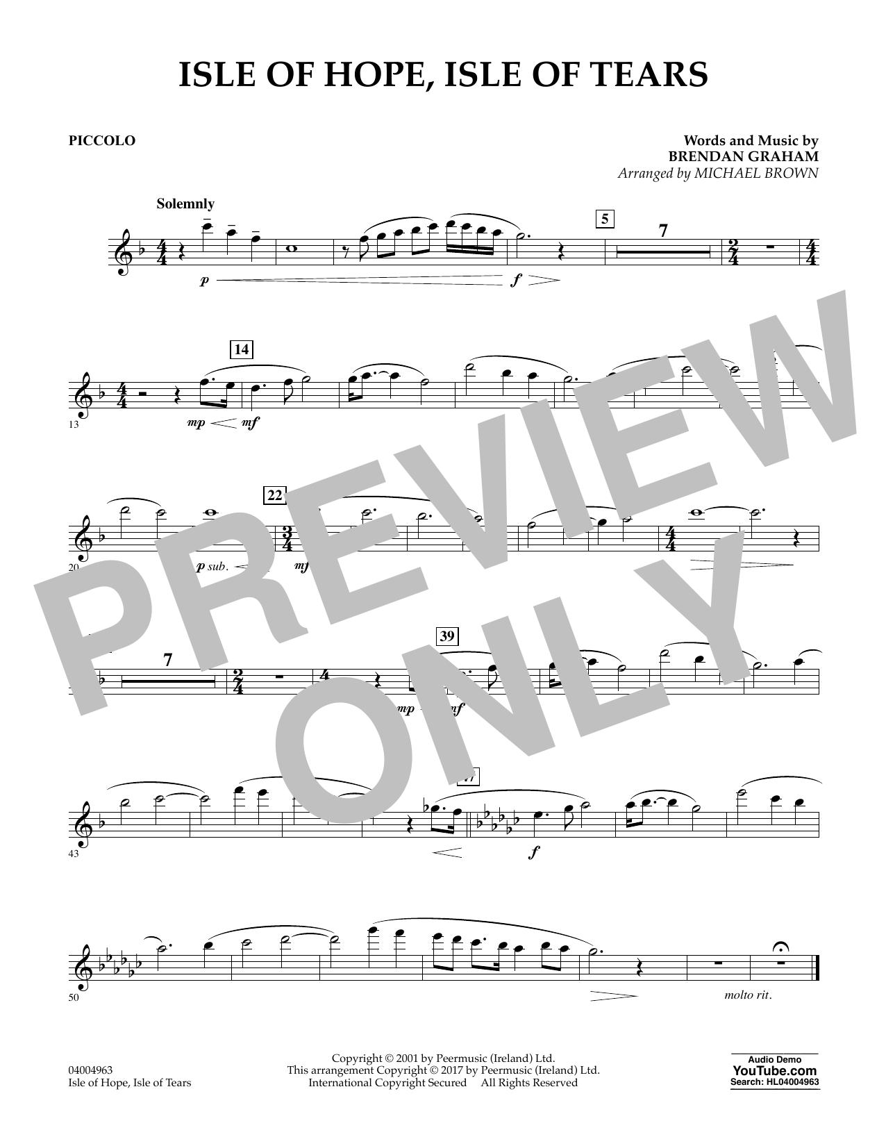 Isle of Hope, Isle of Tears - Piccolo Sheet Music