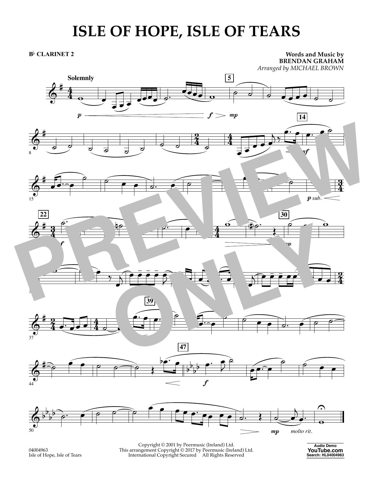 Isle of Hope, Isle of Tears - Bb Clarinet 2 Sheet Music