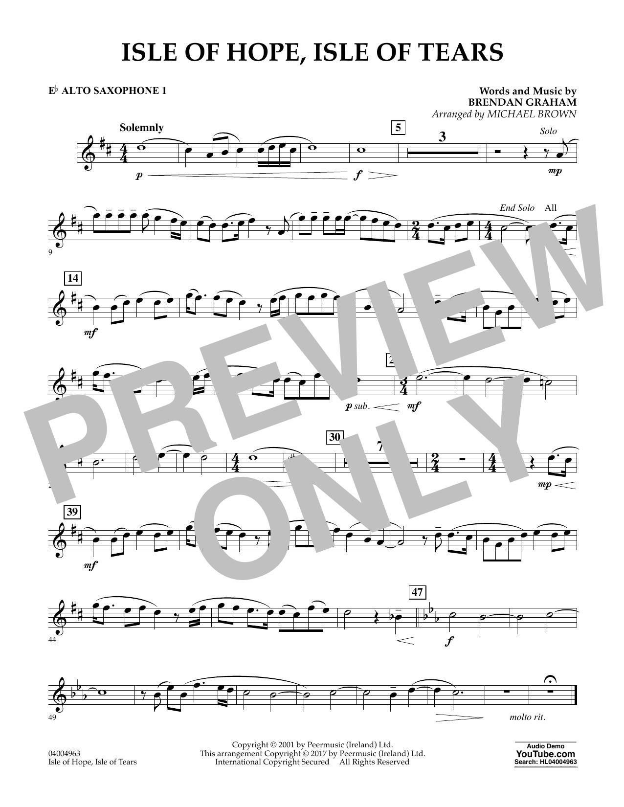 Isle of Hope, Isle of Tears - Eb Alto Saxophone 1 (Concert Band)