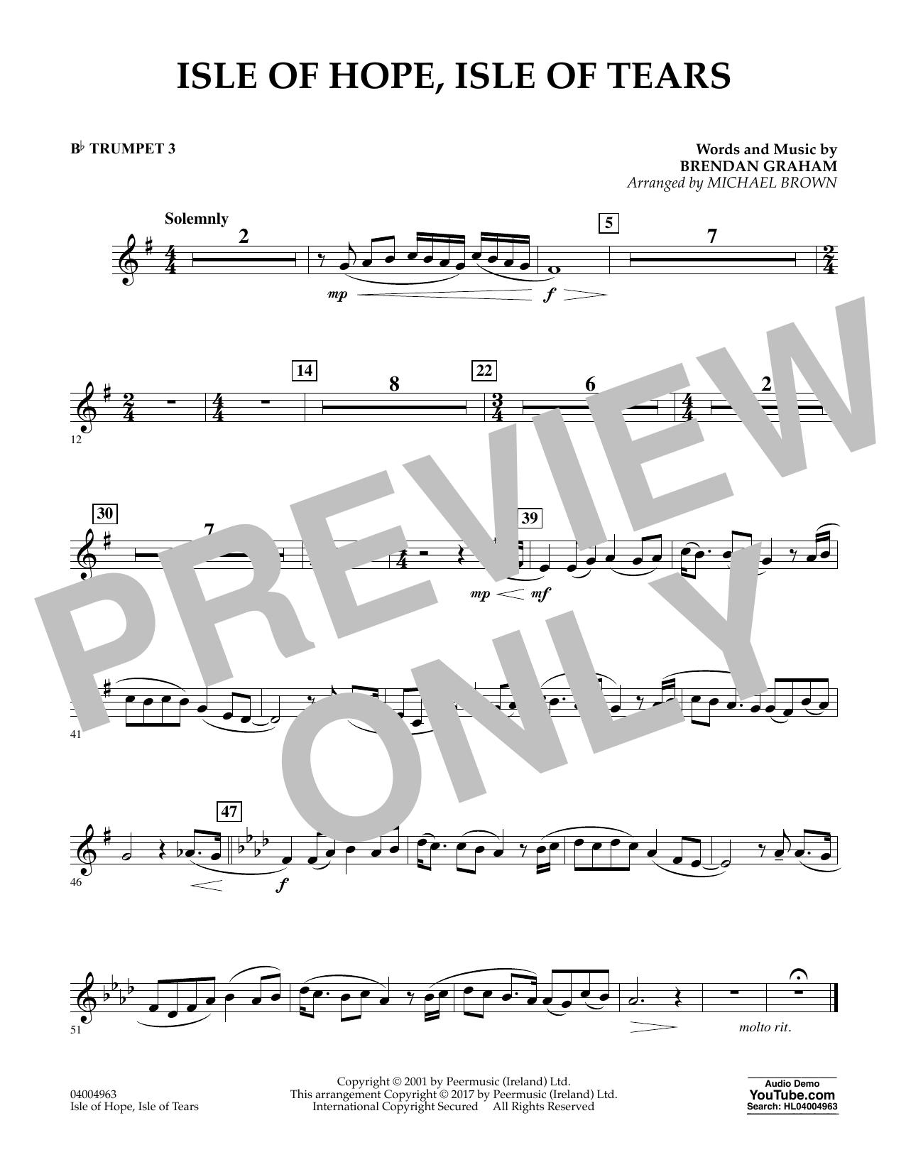 Isle of Hope, Isle of Tears - Bb Trumpet 3 Sheet Music