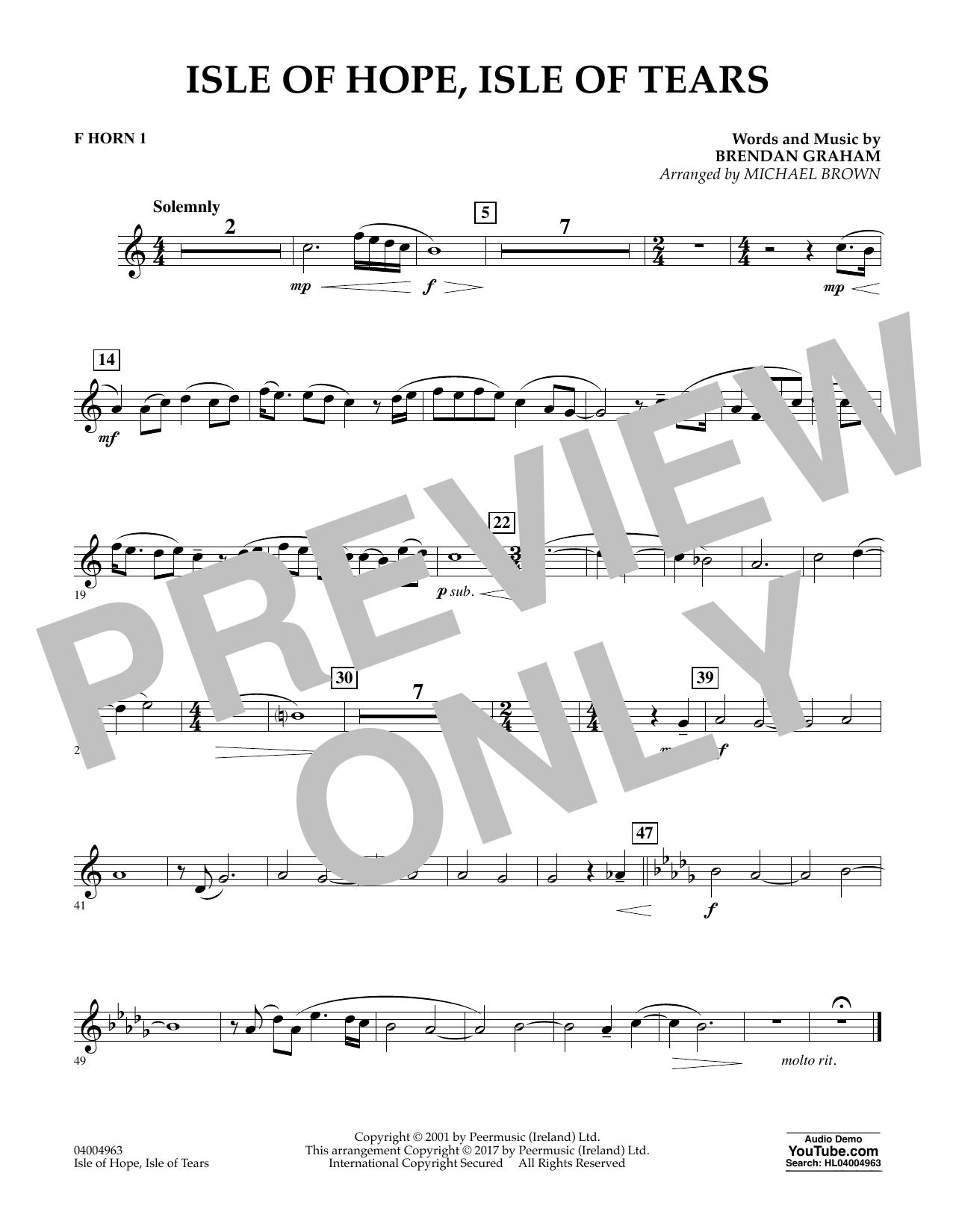 Isle of Hope, Isle of Tears - F Horn 1 Sheet Music