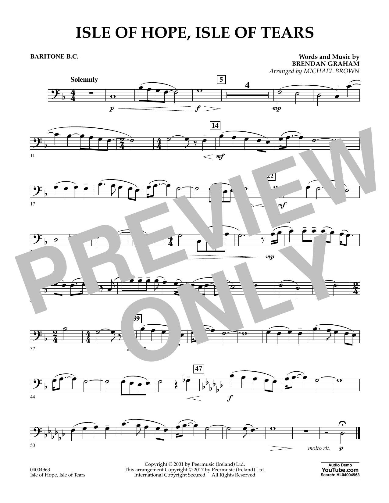 Isle of Hope, Isle of Tears - Baritone B.C. Sheet Music