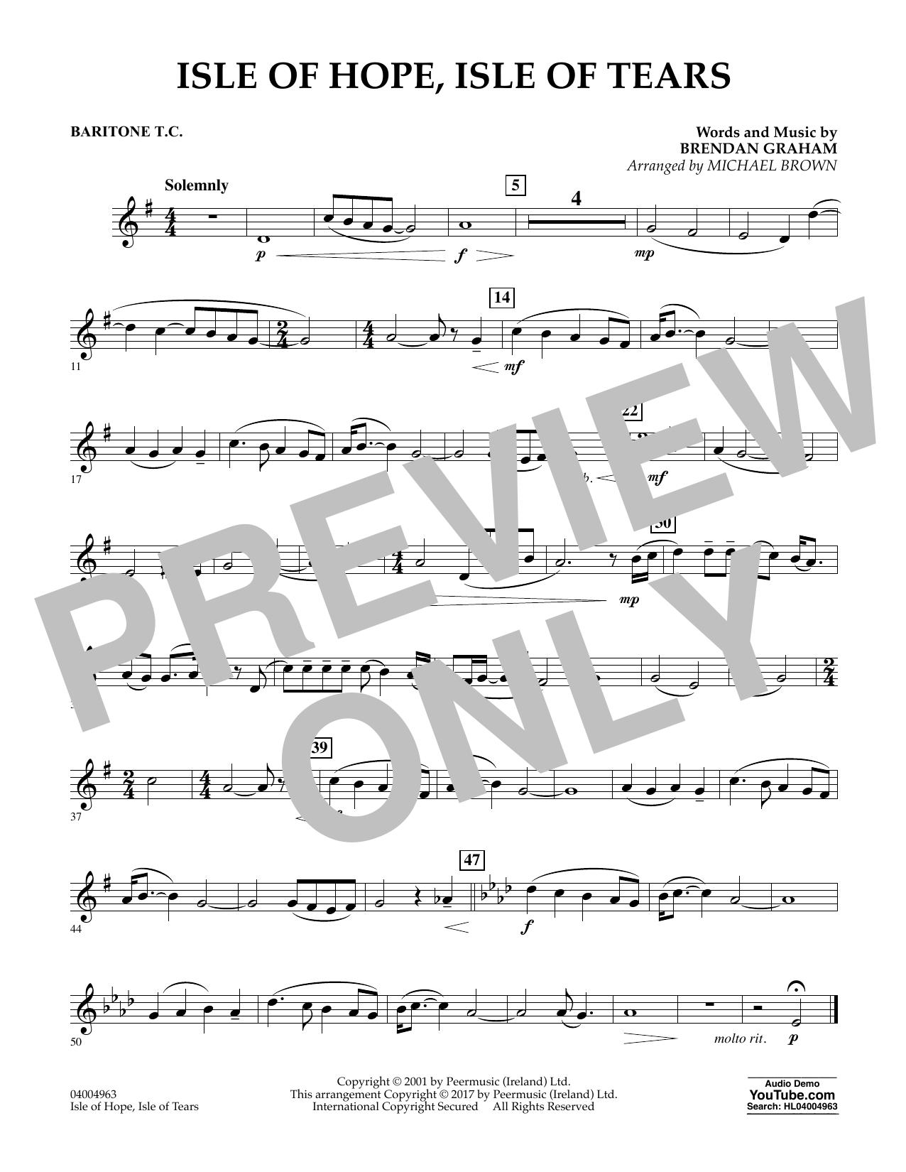 Isle of Hope, Isle of Tears - Baritone T.C. Sheet Music