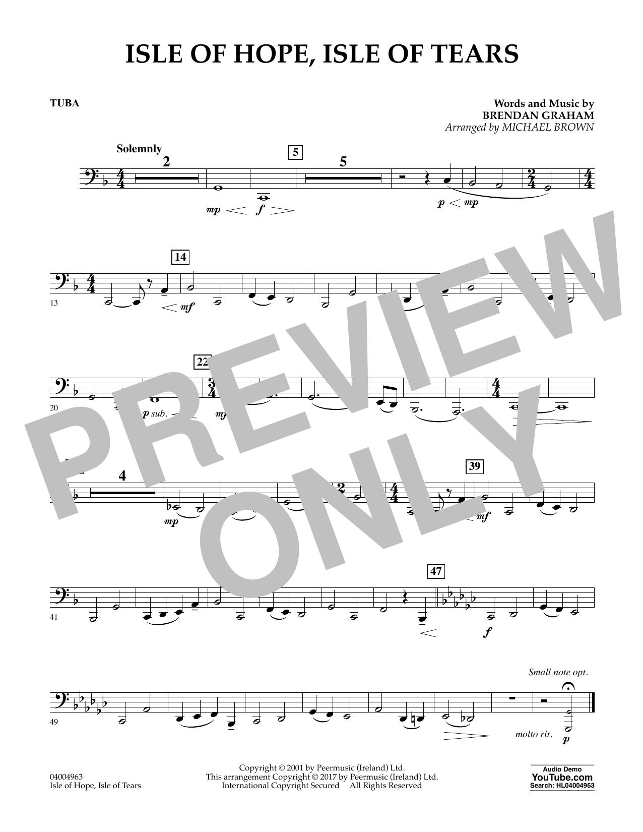 Isle of Hope, Isle of Tears - Tuba (Concert Band)