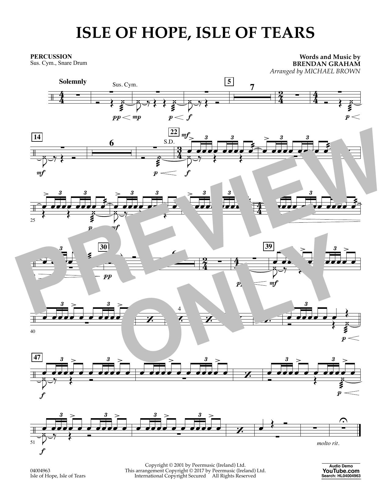 Isle of Hope, Isle of Tears - Percussion Sheet Music