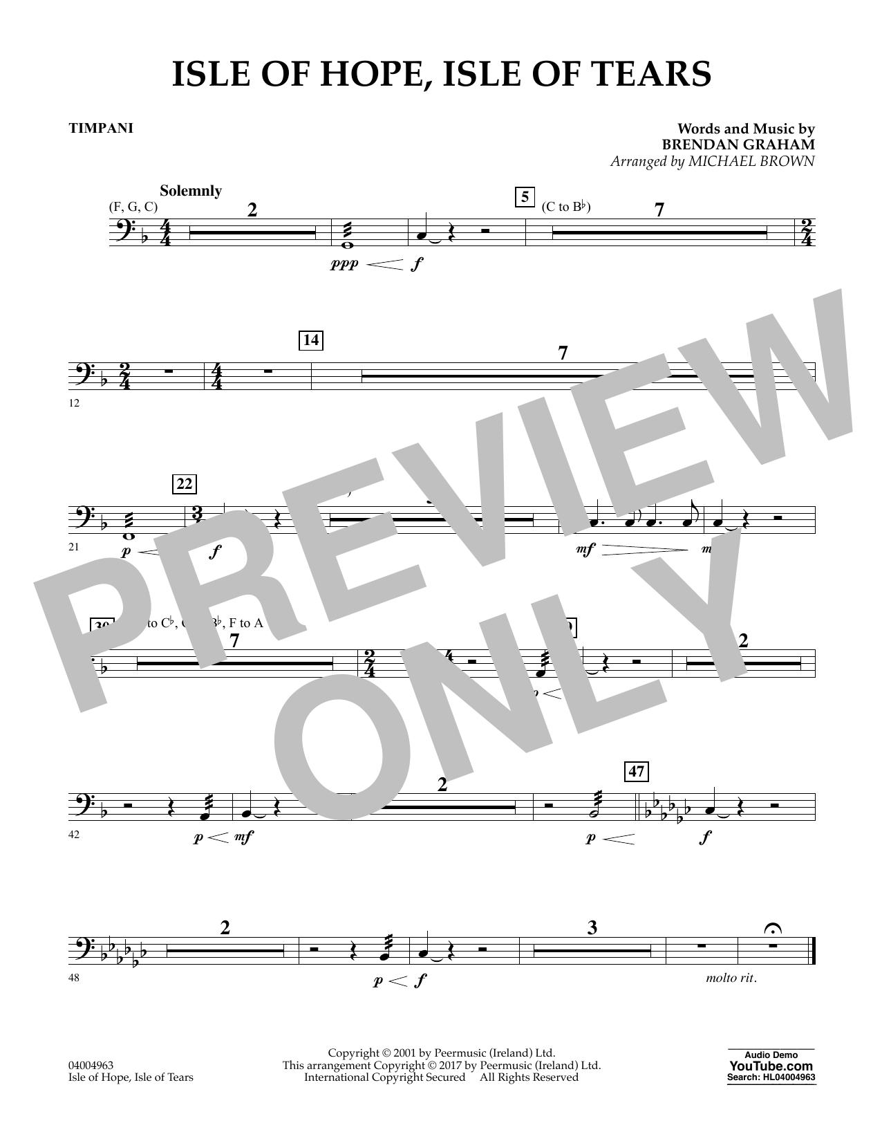 Isle of Hope, Isle of Tears - Timpani Sheet Music