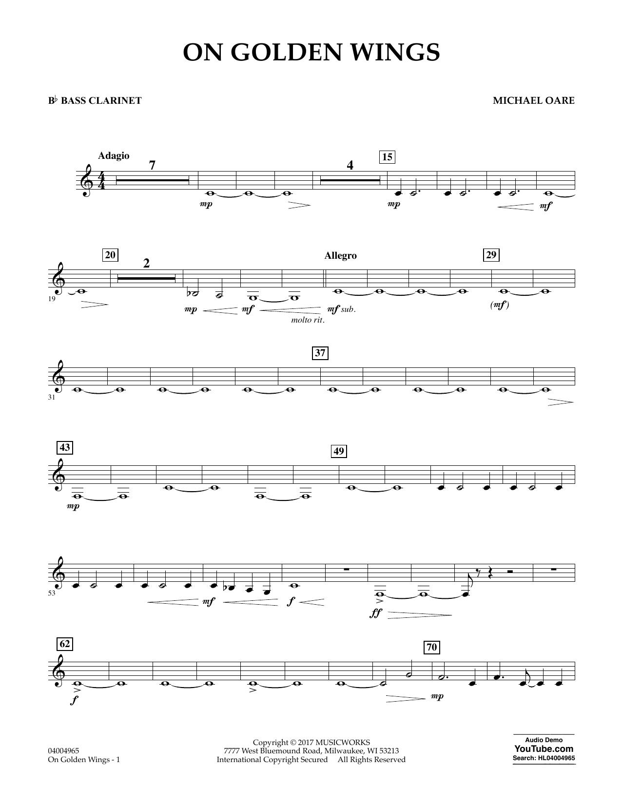 On Golden Wings - Bb Bass Clarinet Sheet Music