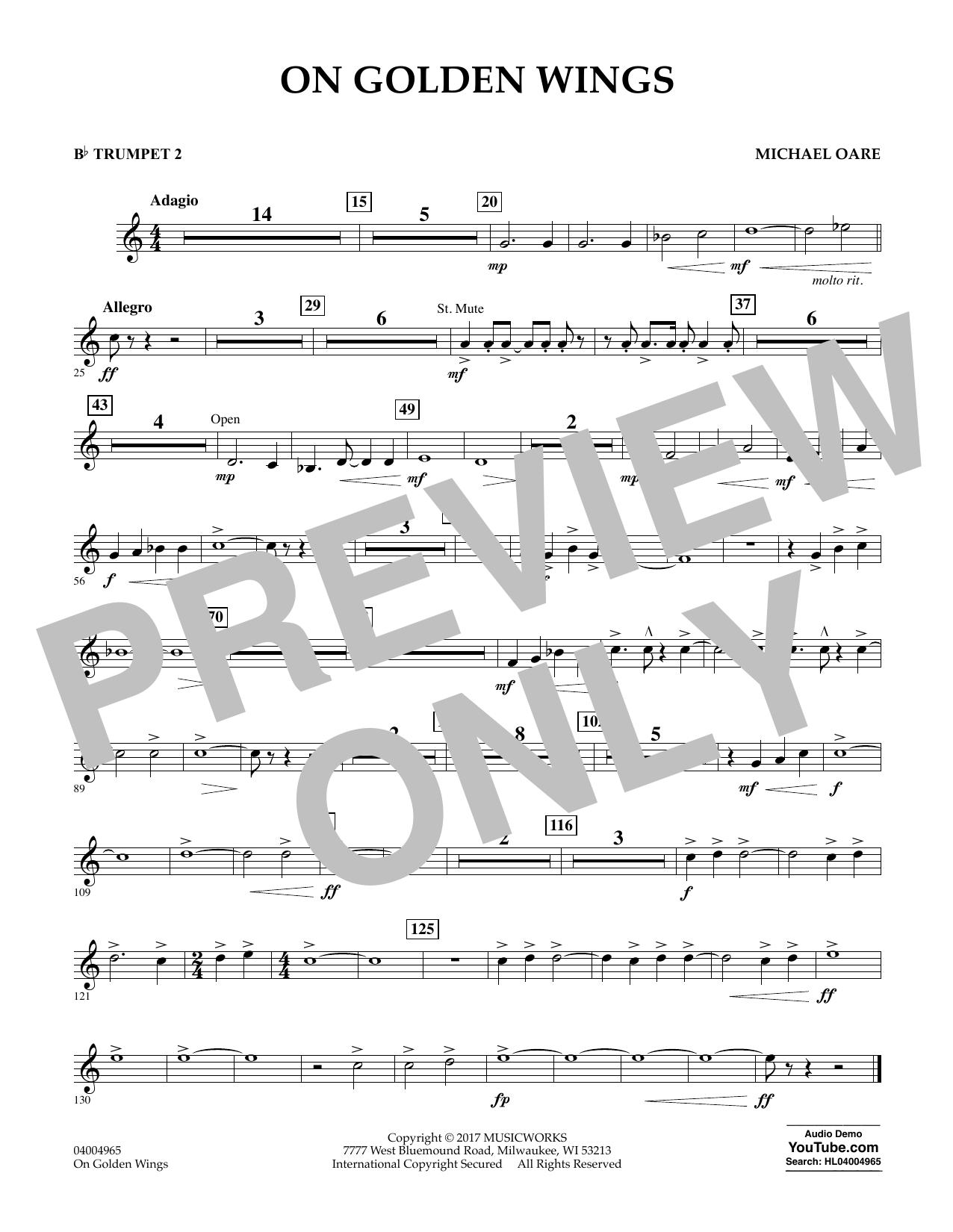 On Golden Wings - Bb Trumpet 2 Sheet Music