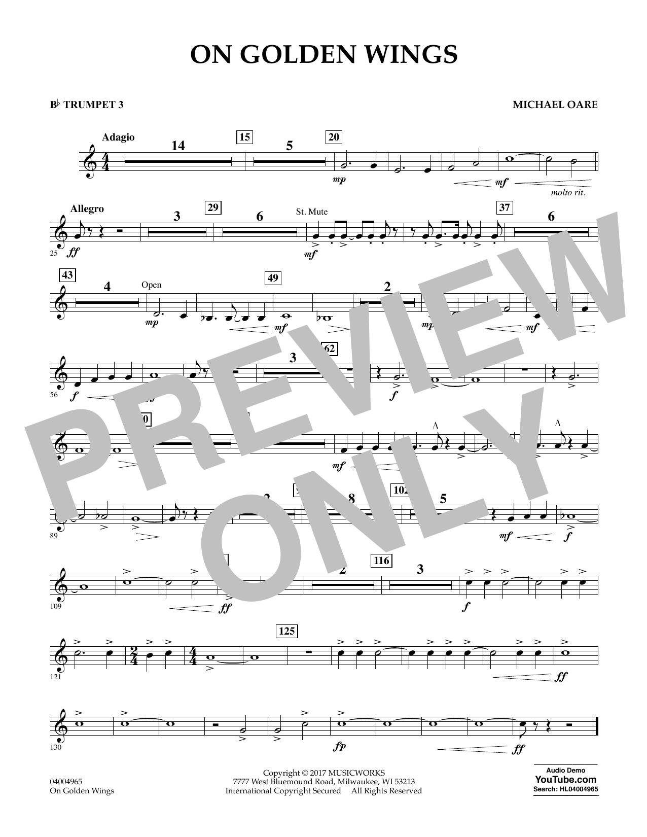 On Golden Wings - Bb Trumpet 3 Sheet Music