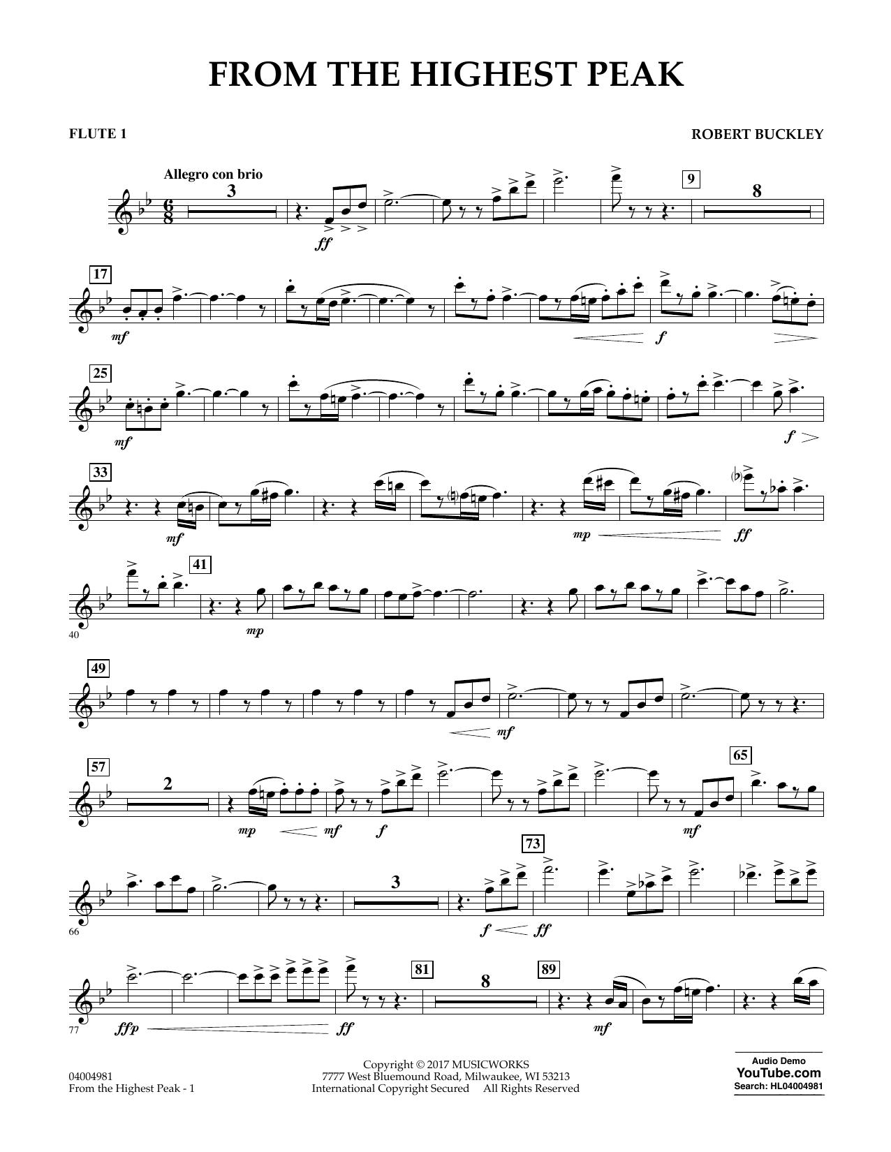 From the Highest Peak - Flute 1 Sheet Music