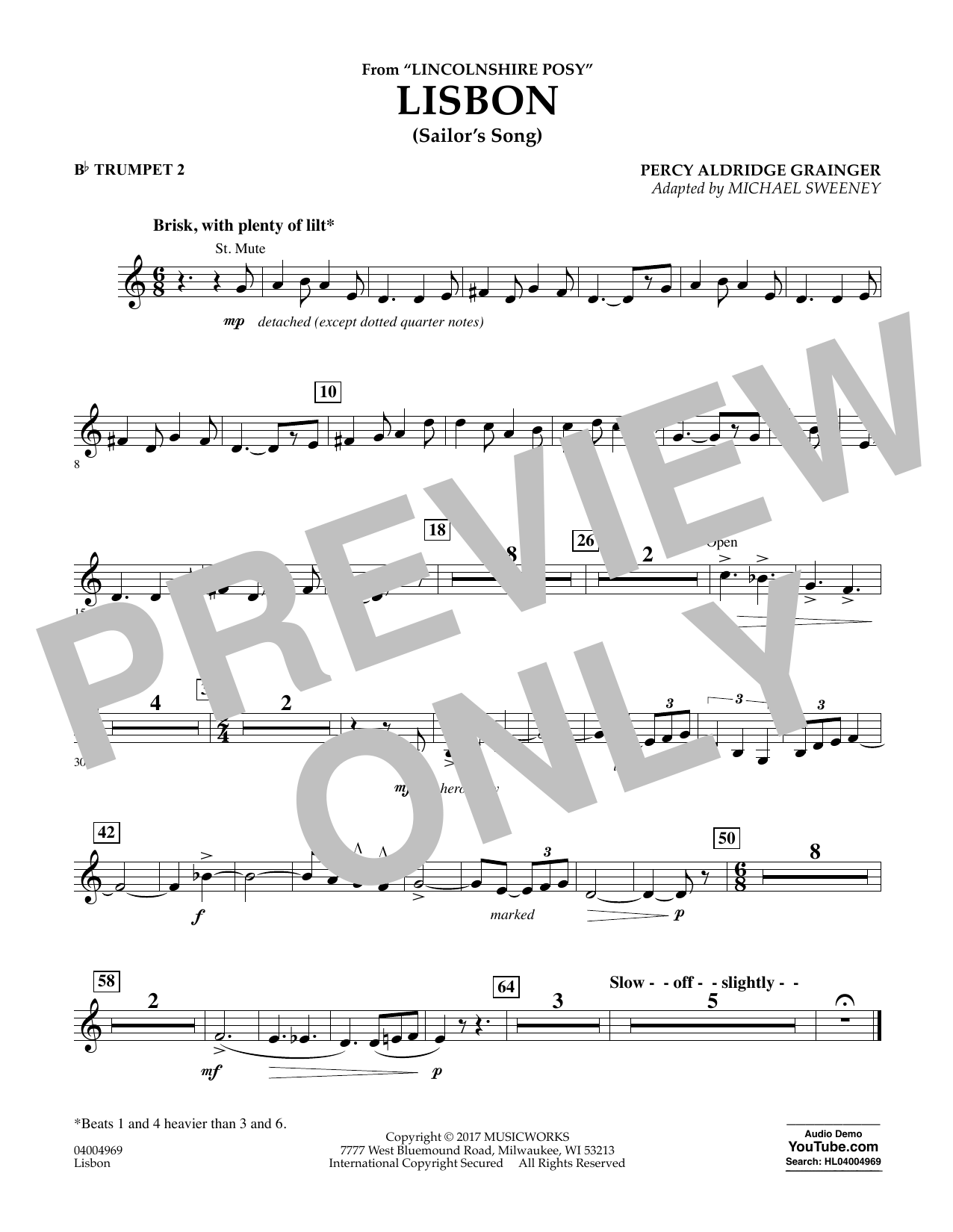 Lisbon (from Lincolnshire Posy) - Bb Trumpet 2 Sheet Music