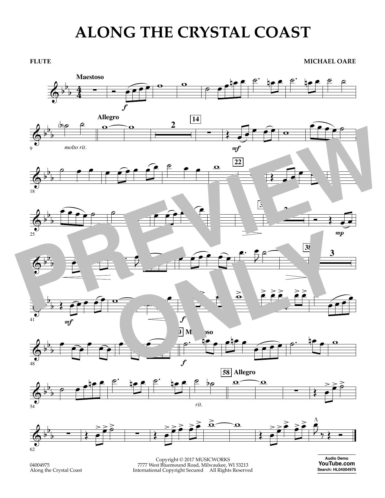 Along the Crystal Coast - Flute Sheet Music