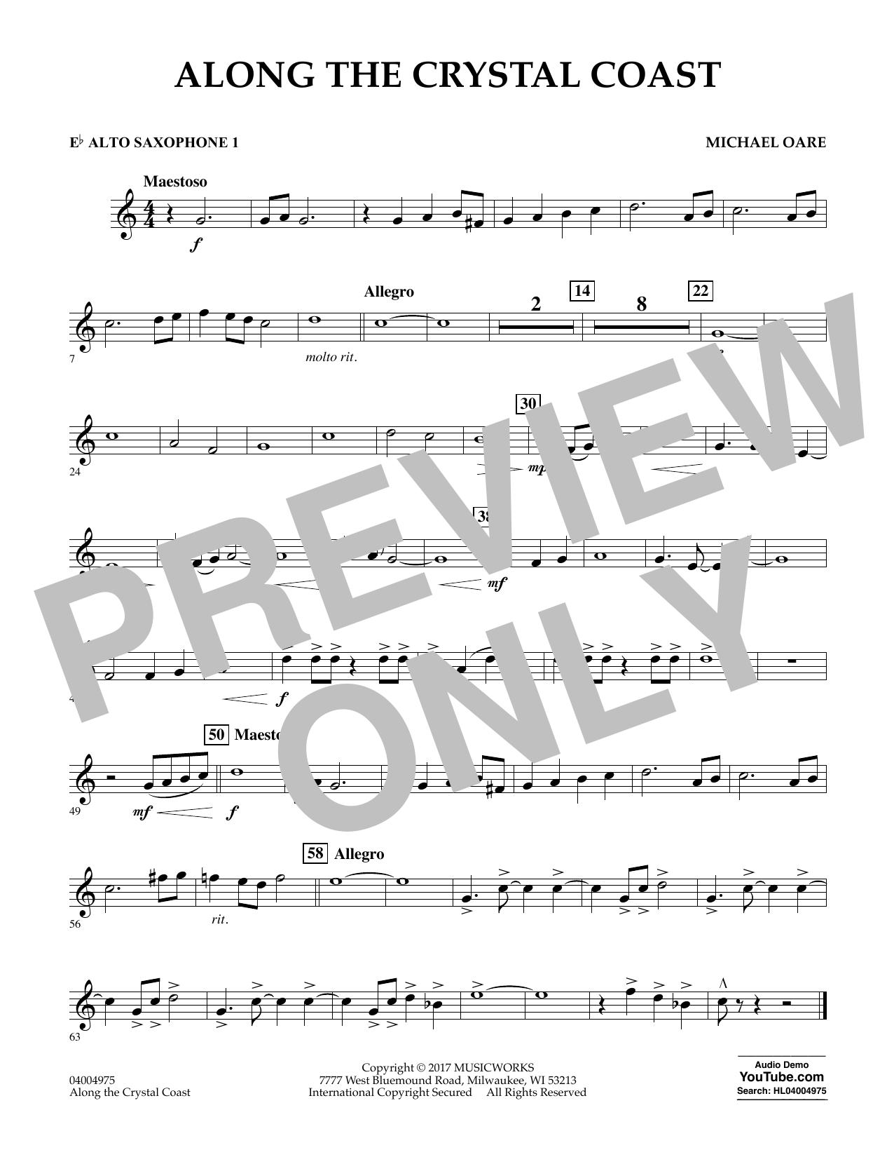 Along the Crystal Coast - Eb Alto Saxophone 1 (Concert Band)