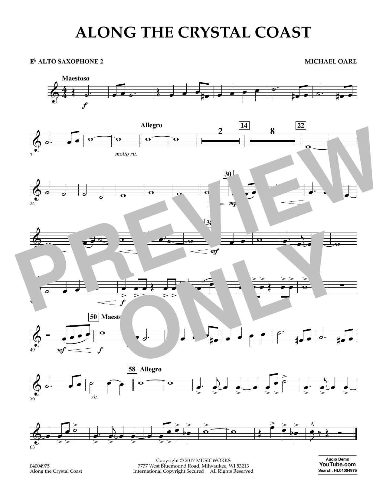 Along the Crystal Coast - Eb Alto Saxophone 2 Sheet Music