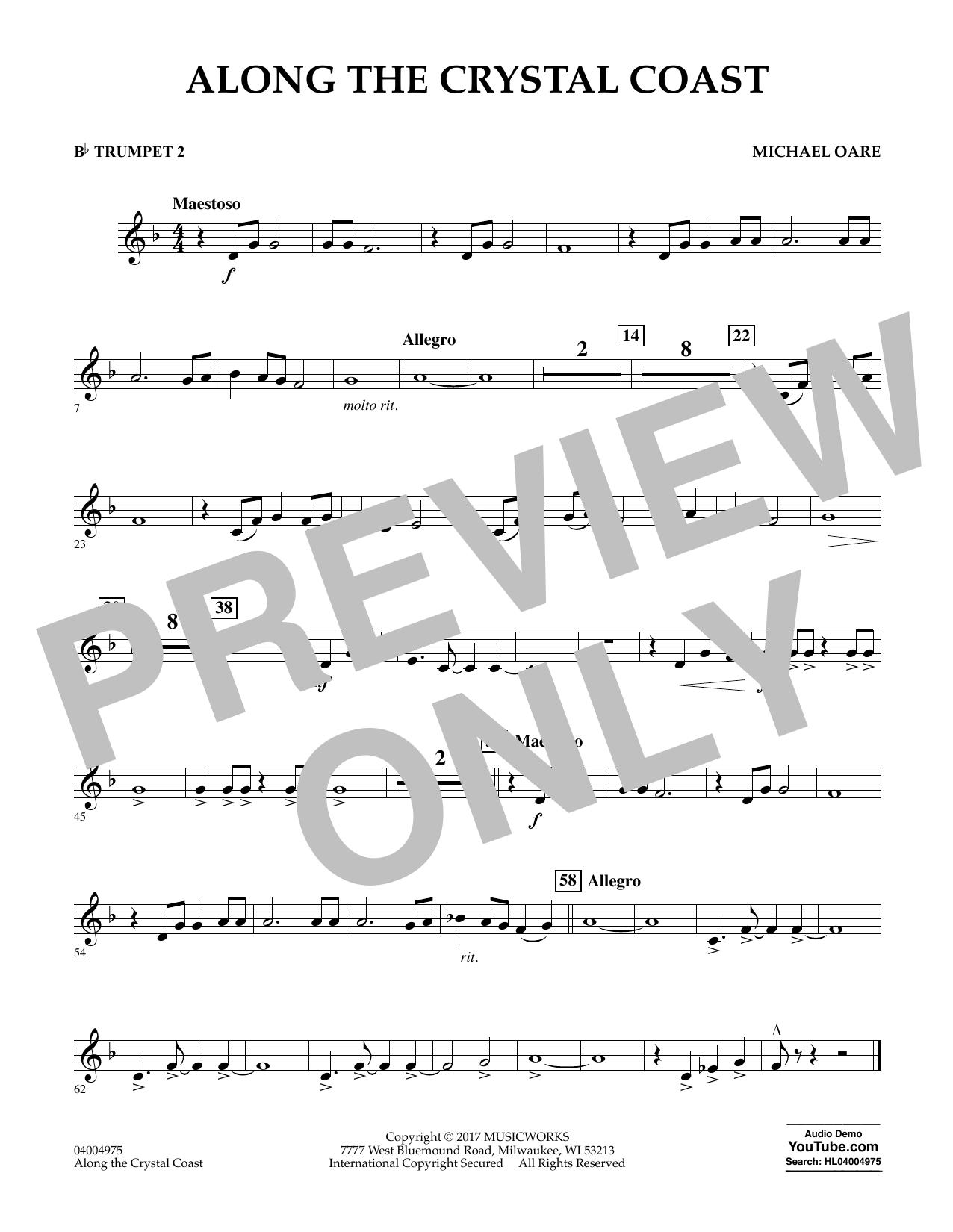 Along the Crystal Coast - Bb Trumpet 2 Sheet Music