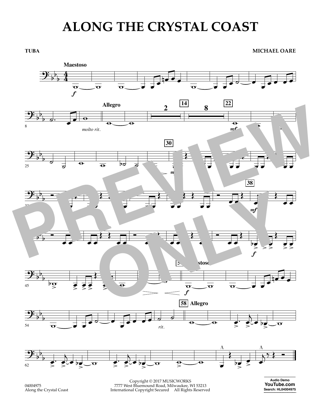 Along the Crystal Coast - Tuba Sheet Music