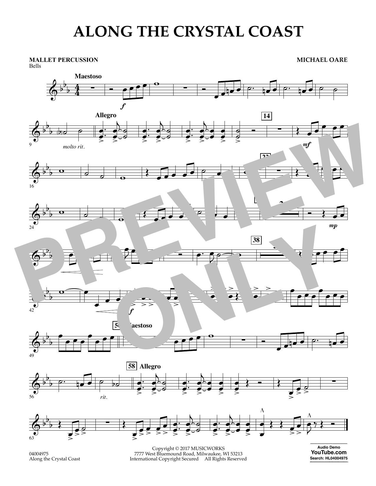 Along the Crystal Coast - Mallet Percussion Sheet Music