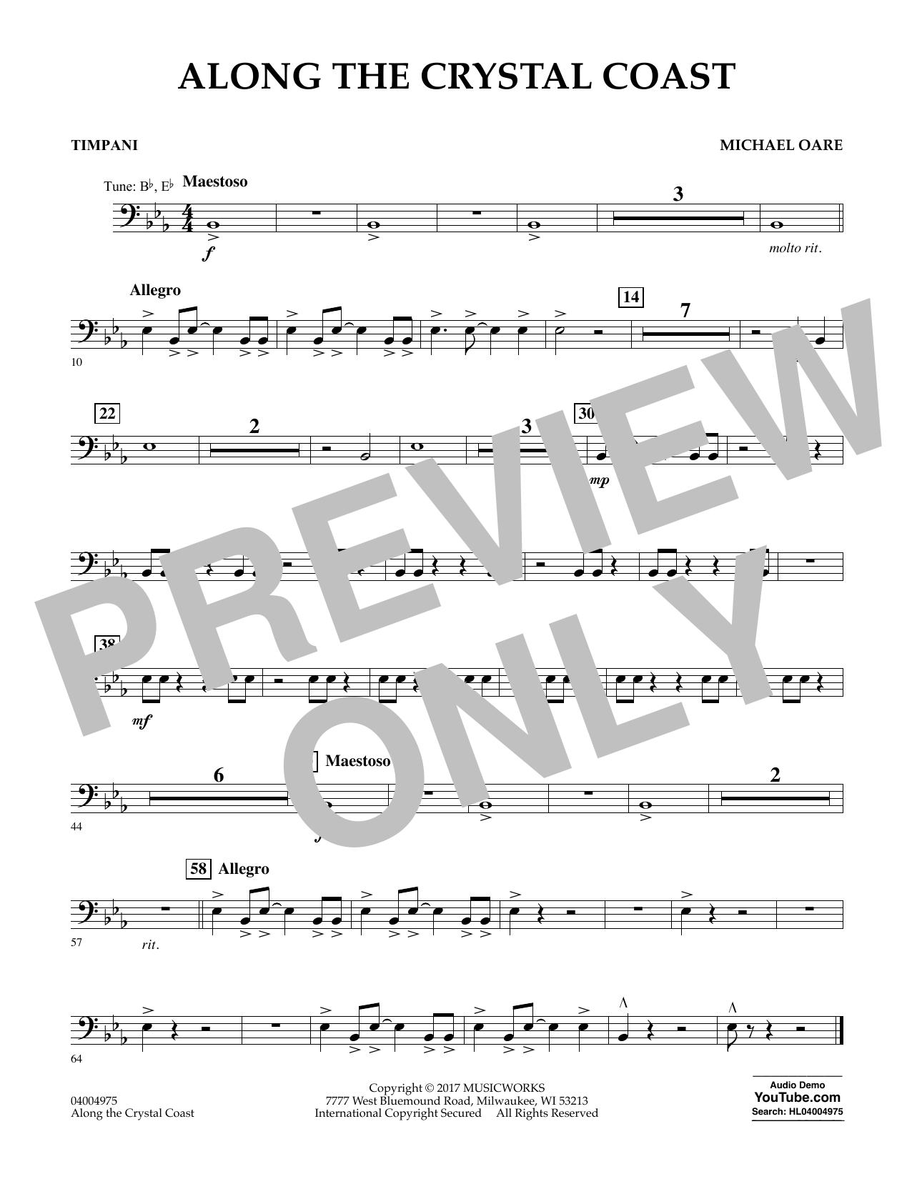 Along the Crystal Coast - Timpani Sheet Music