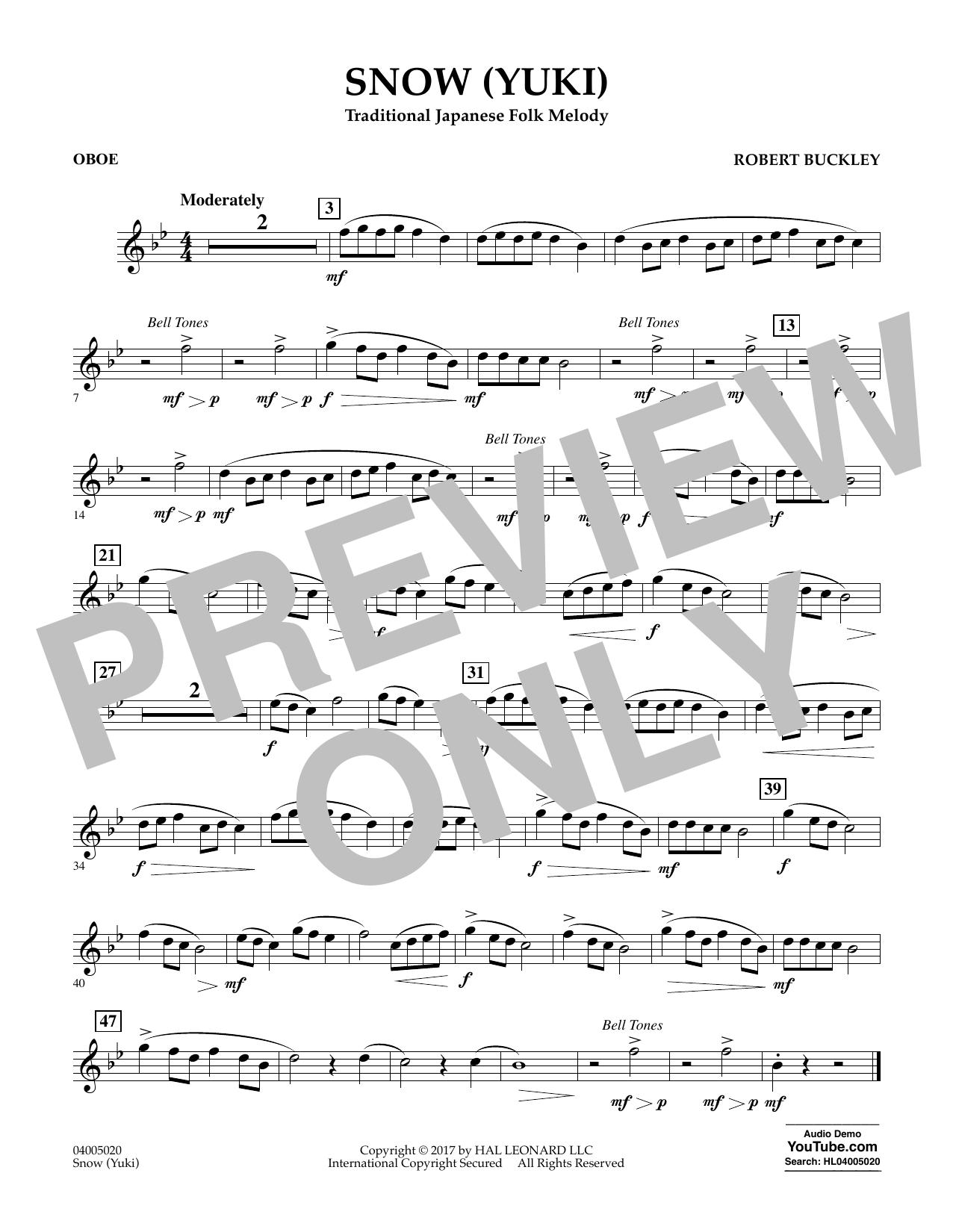 Snow (Yuki) - Oboe (Concert Band)