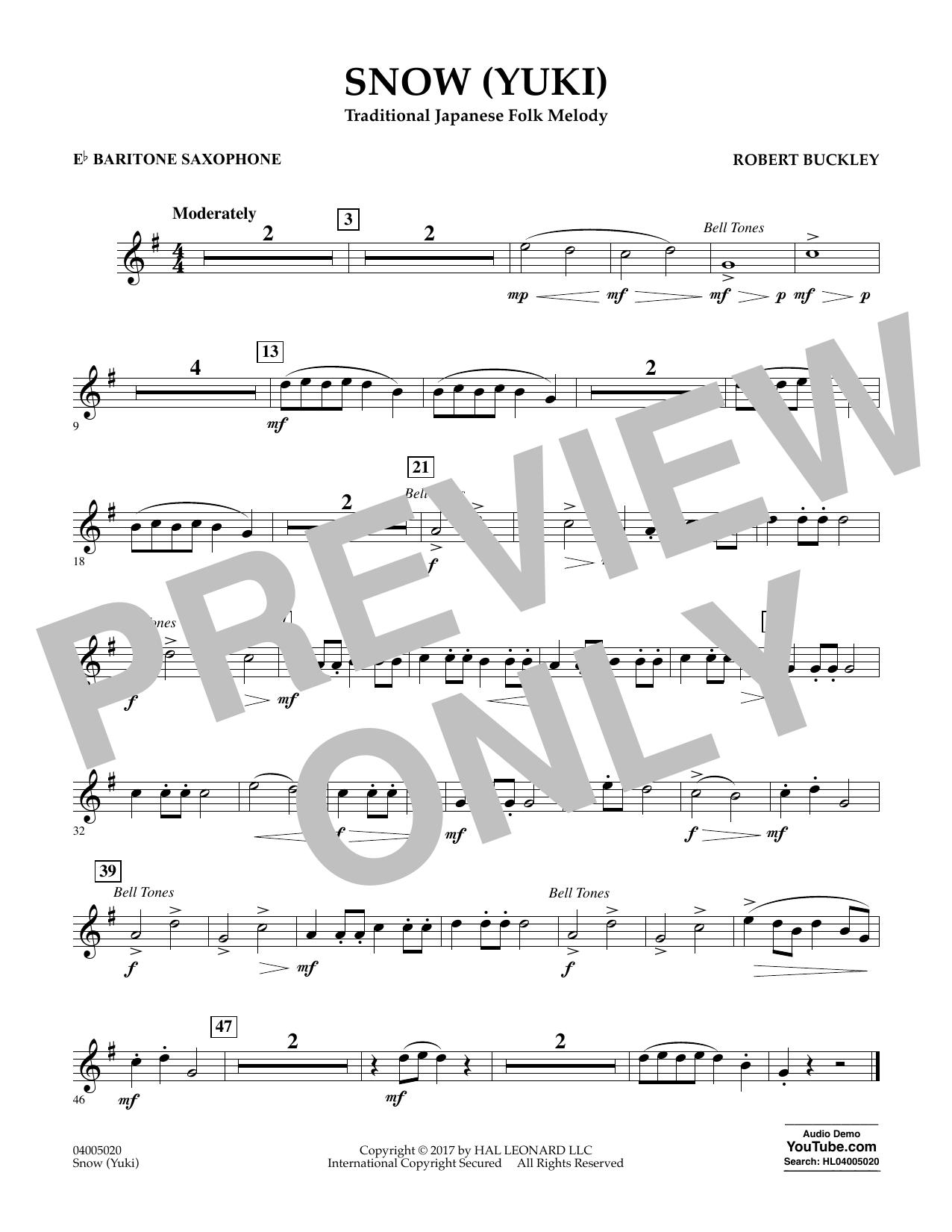 Snow (Yuki) - Eb Baritone Saxophone Sheet Music
