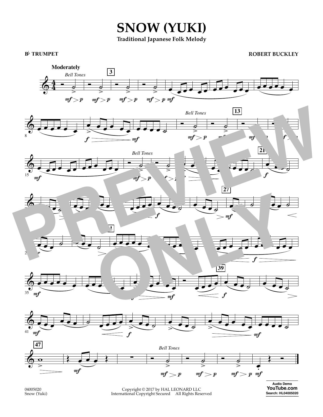 Snow (Yuki) - Bb Trumpet Sheet Music