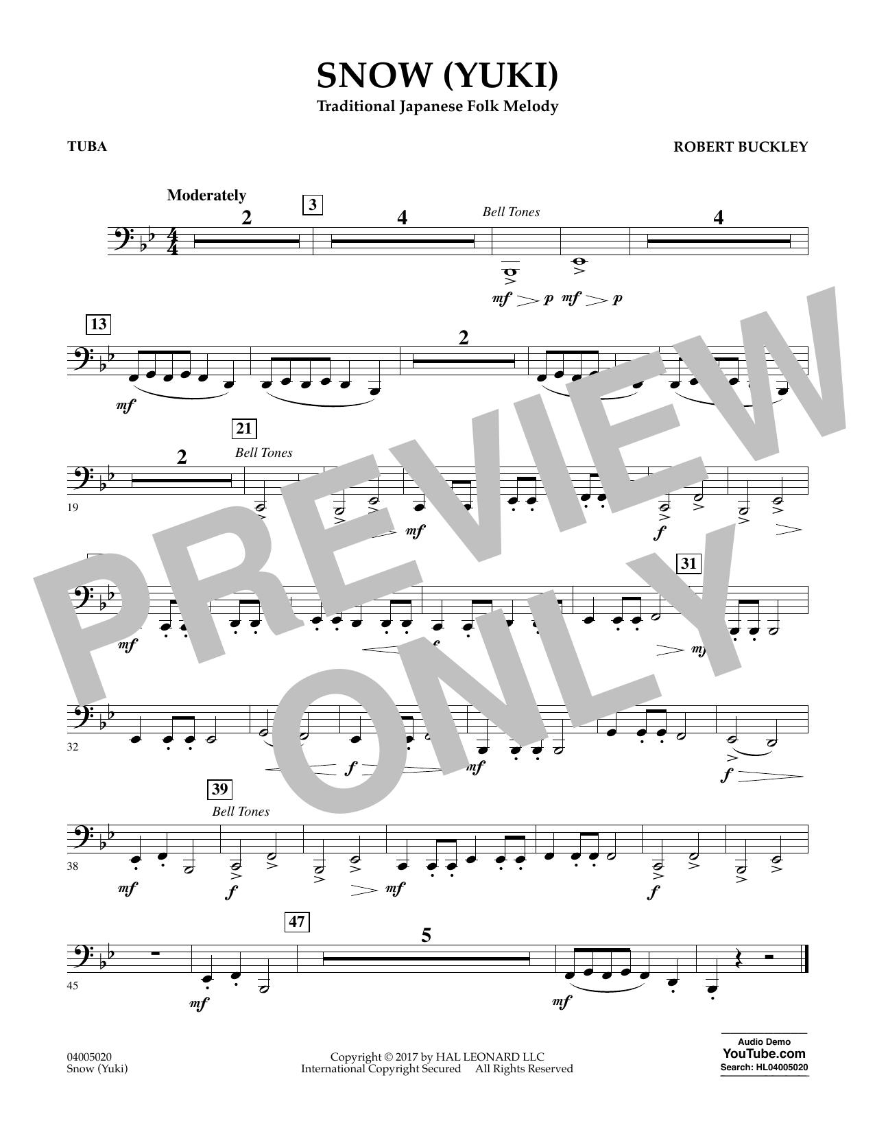 Snow (Yuki) - Tuba Sheet Music