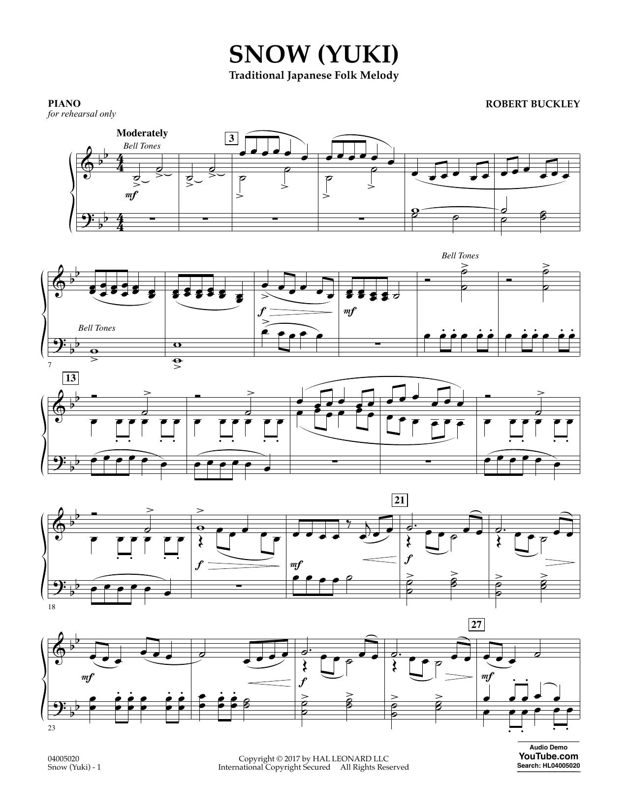 Snow (Yuki) - Piano Sheet Music