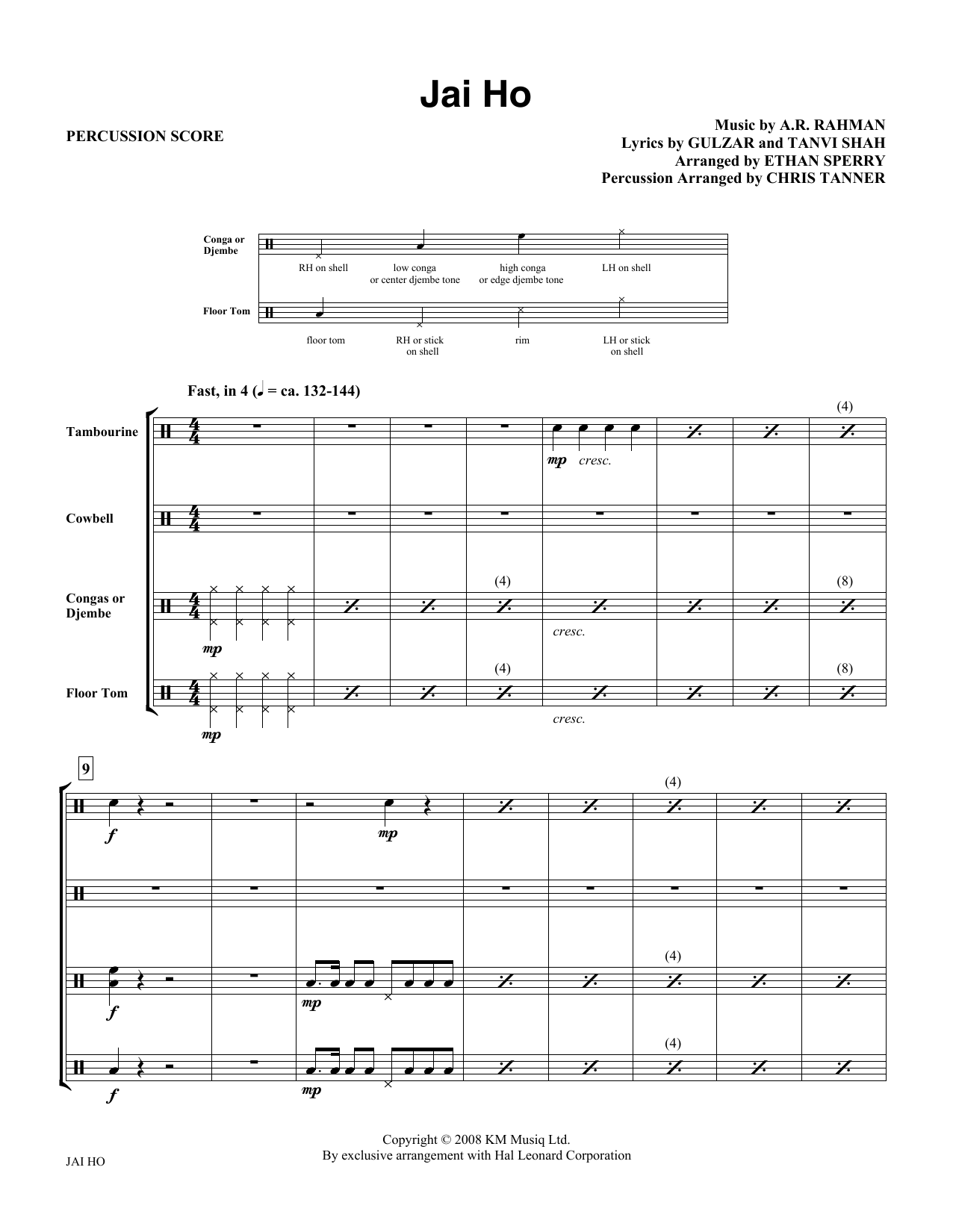 Jai Ho (COMPLETE) sheet music for orchestra/band (Instrumental Accompaniment) by E Sperry and A.R. Rahman. Score Image Preview.