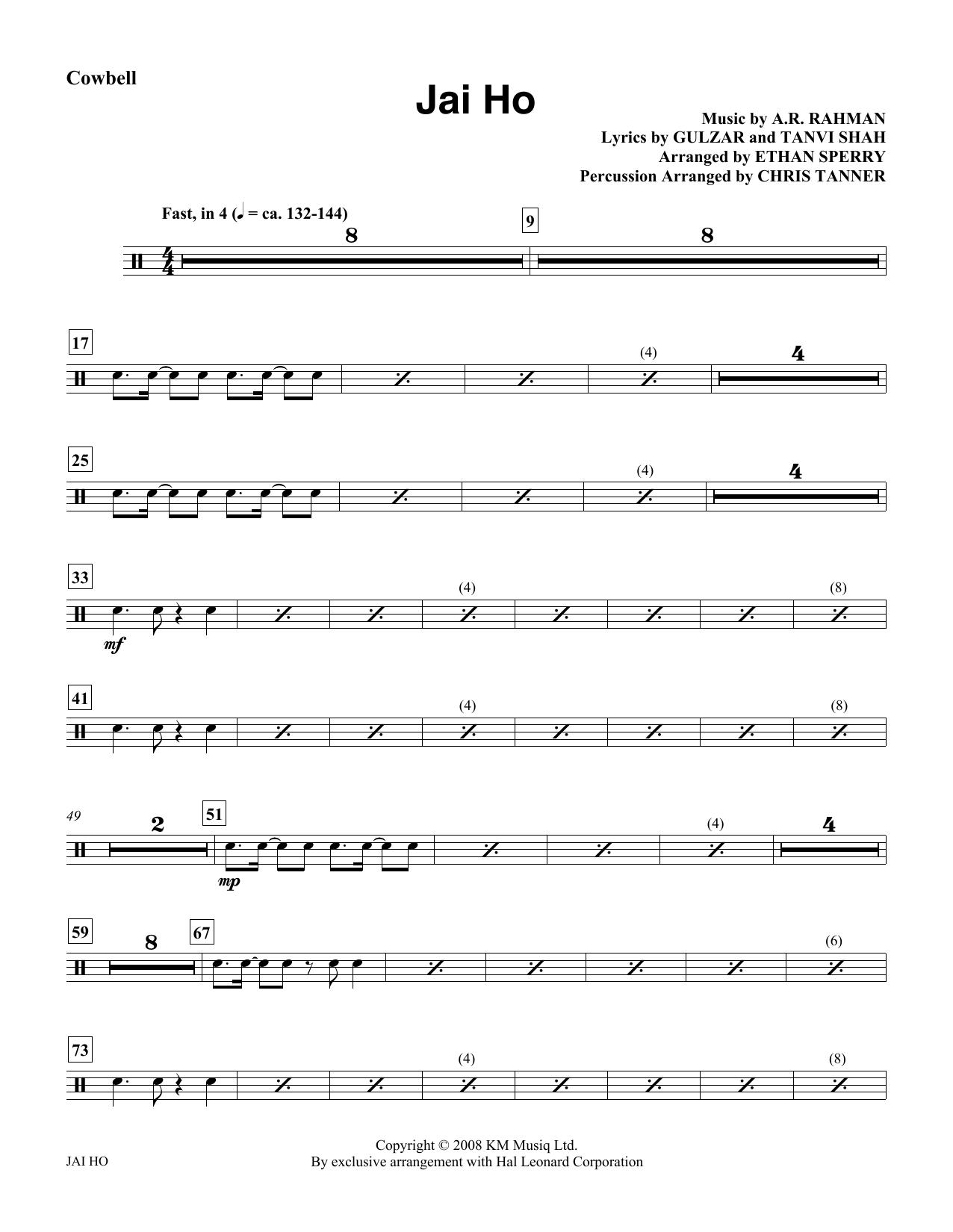 Jai Ho - Cowbell Sheet Music