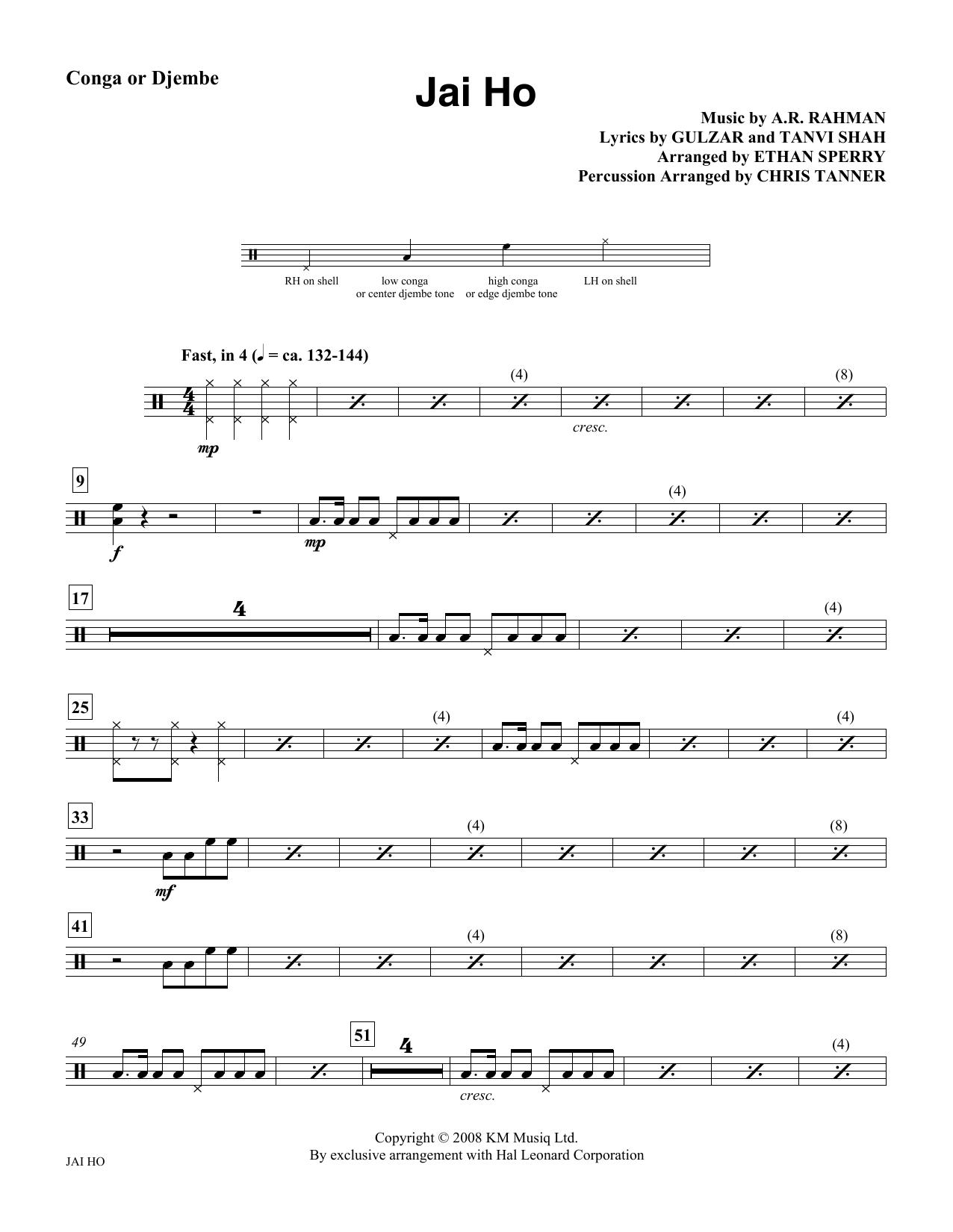 Jai Ho - Congas Sheet Music