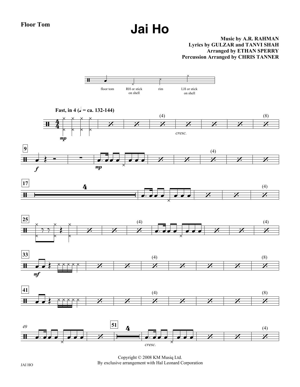Jai Ho - Floor Tom Sheet Music