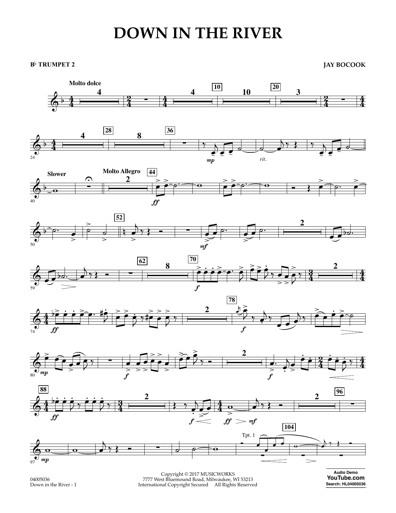 Down in the River - Bb Trumpet 2 Sheet Music