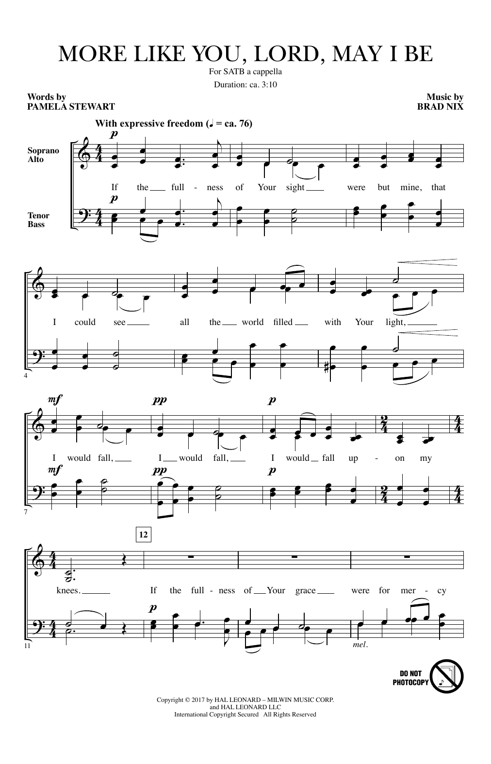 More Like You, Lord, May I Be (SATB Choir)