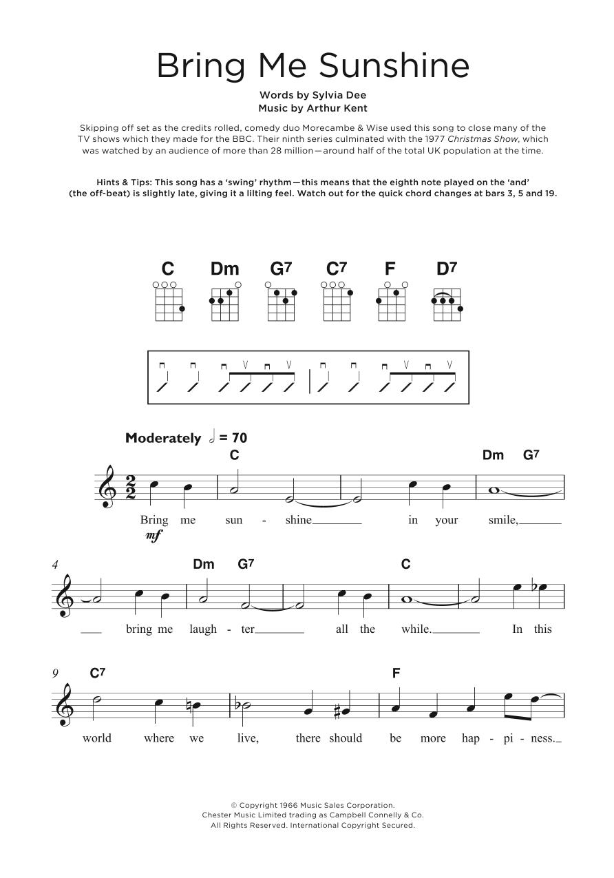 Bring Me Sunshine Sheet Music