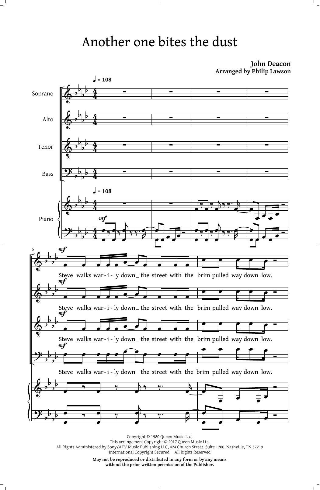 Classic Queen (Choral Collection) (Arr. Philip Lawson) (SATB Choir)