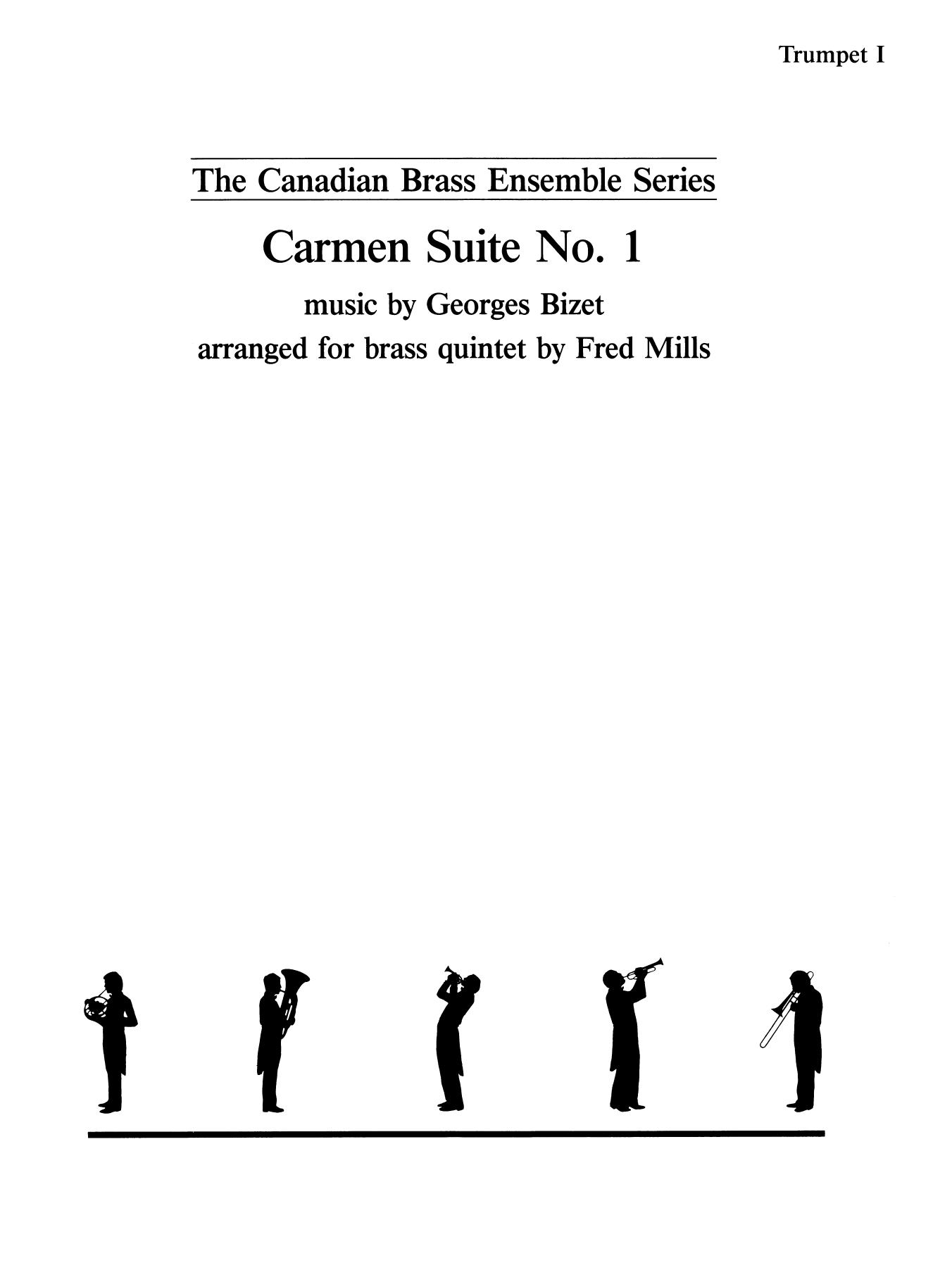 Carmen Suite No. 1 - Bb Trumpet 1 (Brass Quintet) Sheet Music