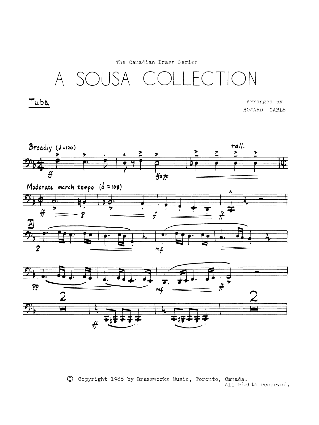 A Sousa Collection - Tuba Sheet Music