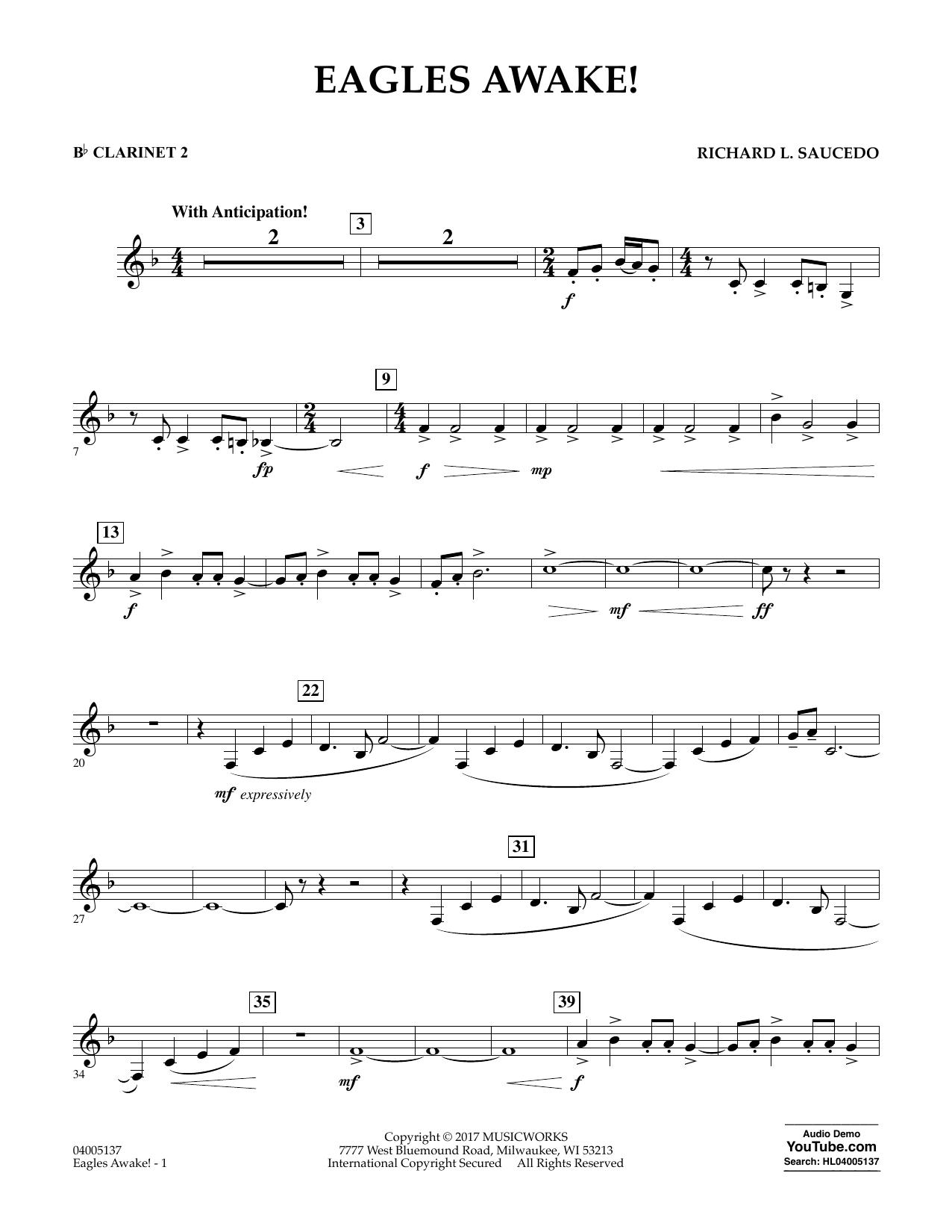 Eagles Awake! - Bb Clarinet 2 Sheet Music